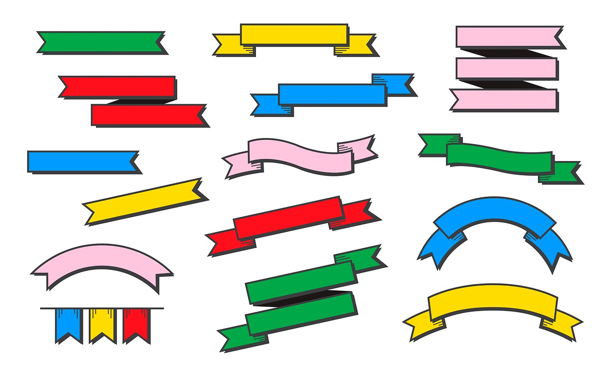 Different style banners vector