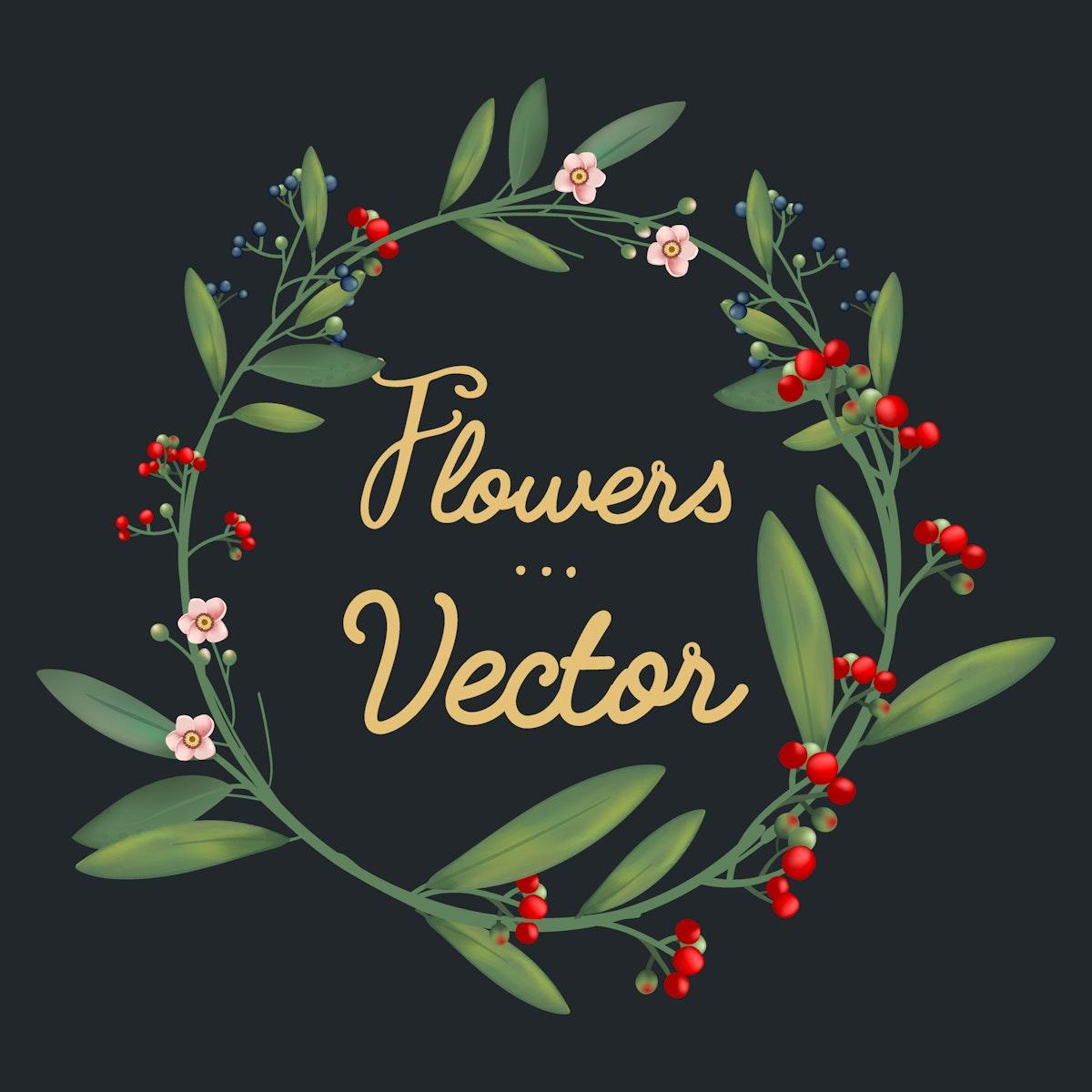 Beautifully designed flowers vector