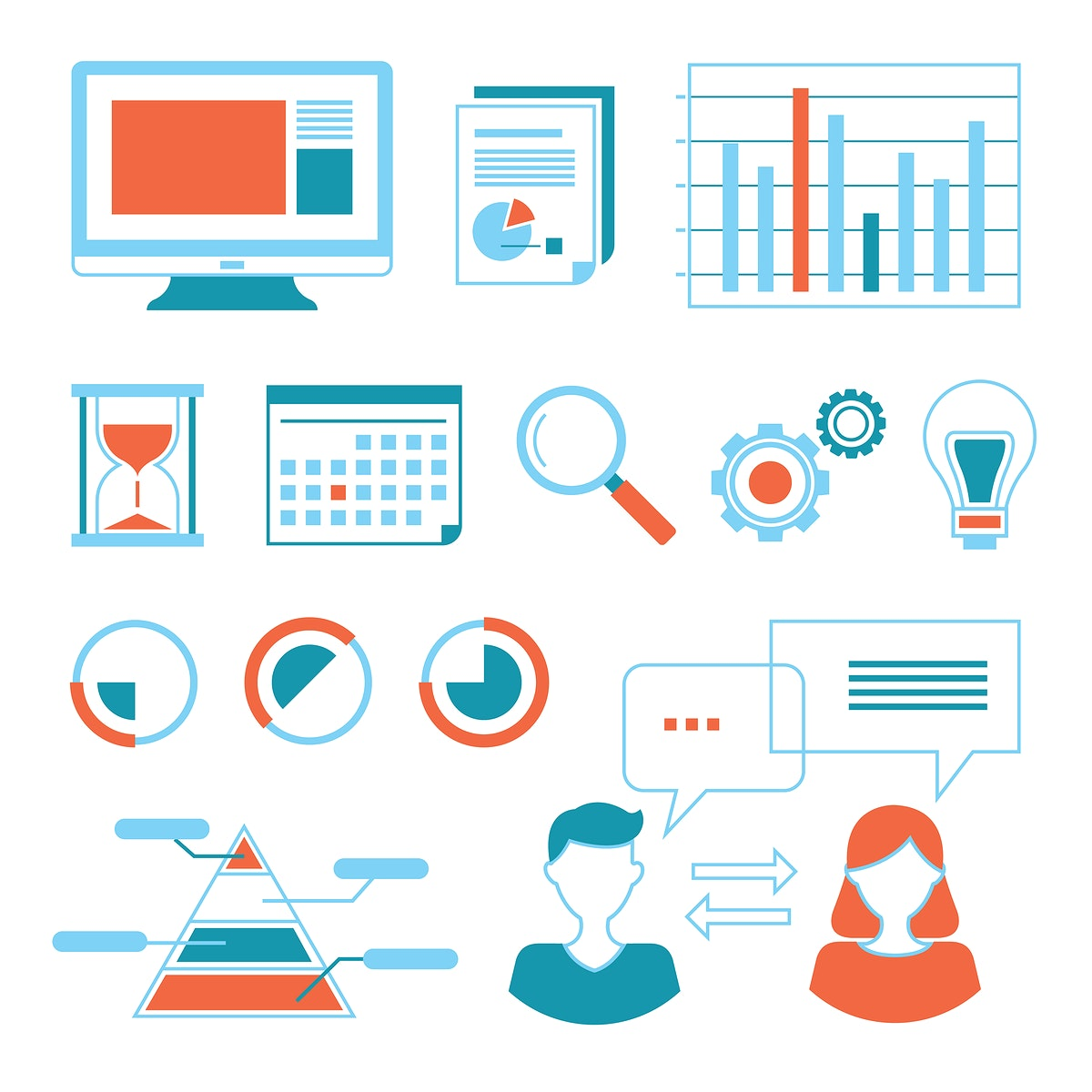 Technology icons vector