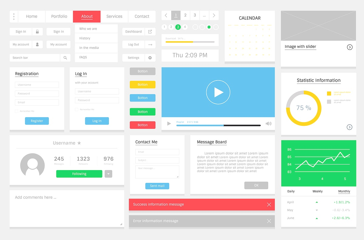 Website design template layout illustration