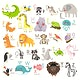 Illustration Animal alphabet vector set