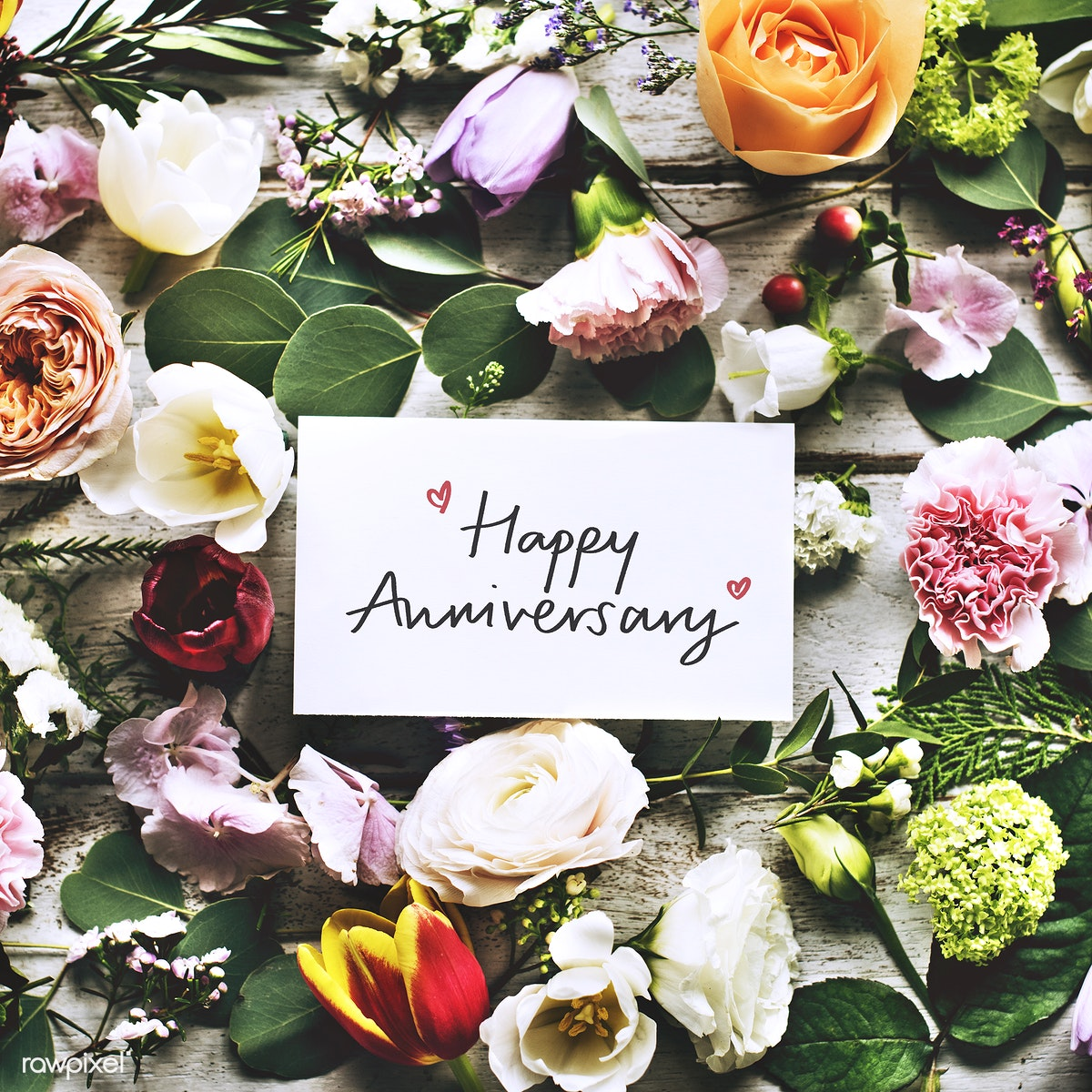 Image result for Happy Anniversary with flowers