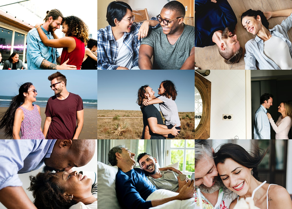 Heterosexual and homosexual romantic images compilation
