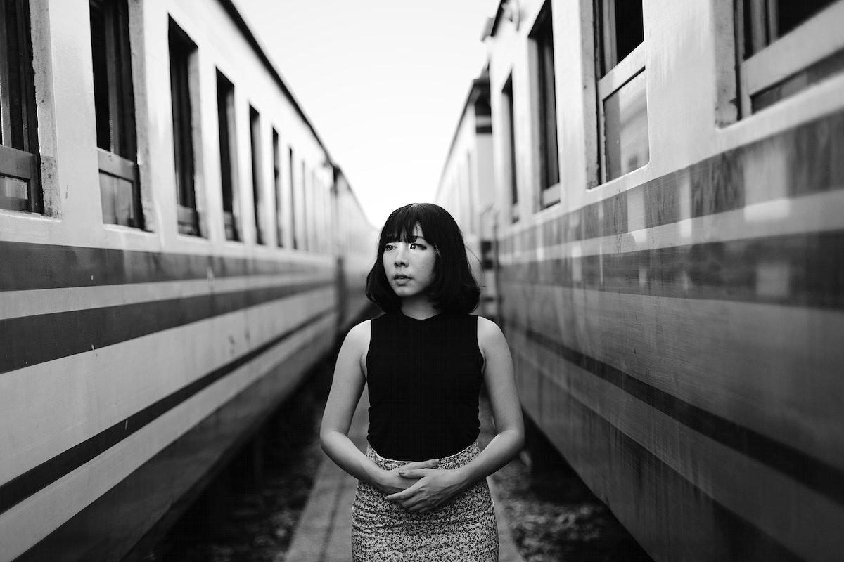 Asian woman in a fashion shoot