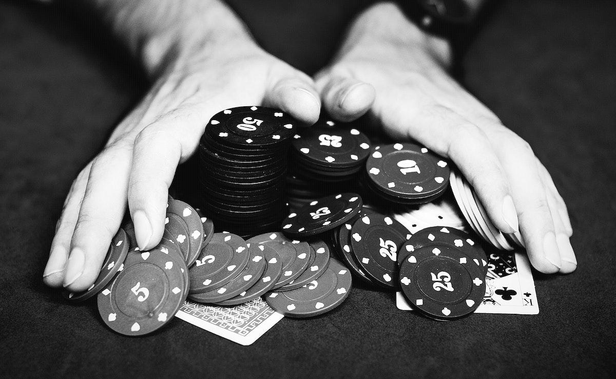 People gambling all their money away