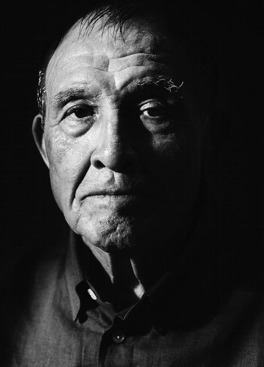 A portrait of an elderly man