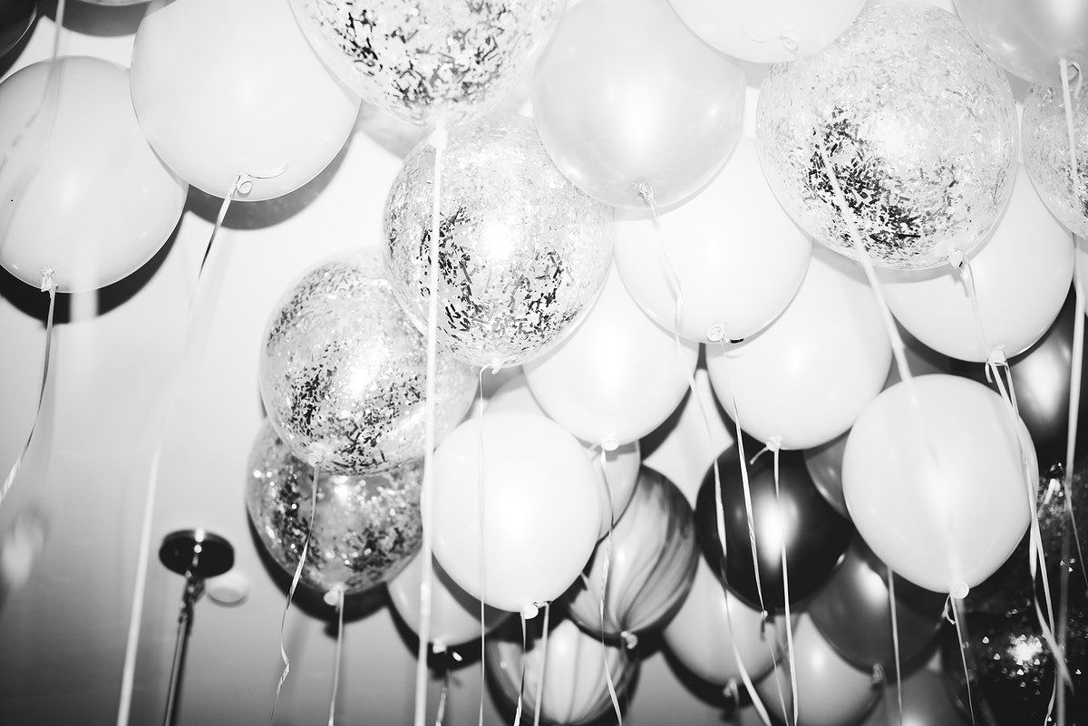 Close up of balloons at a party