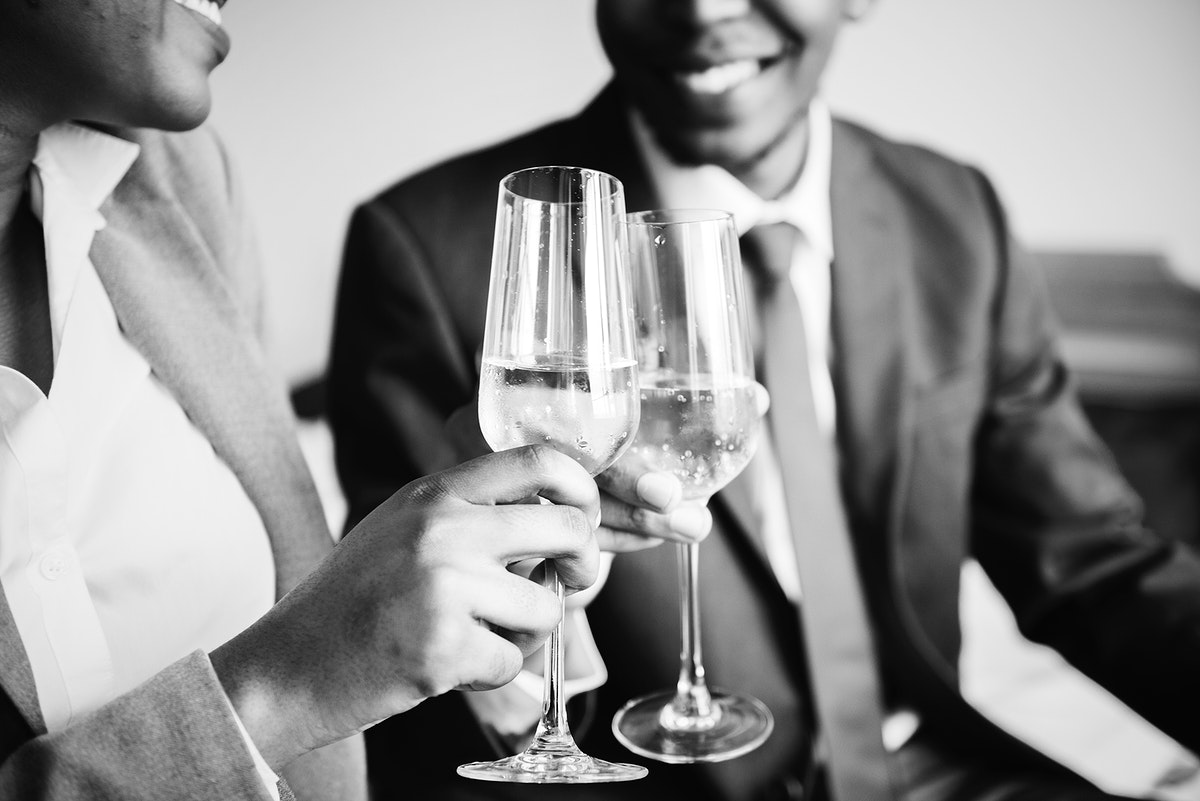 Business partners making a toast