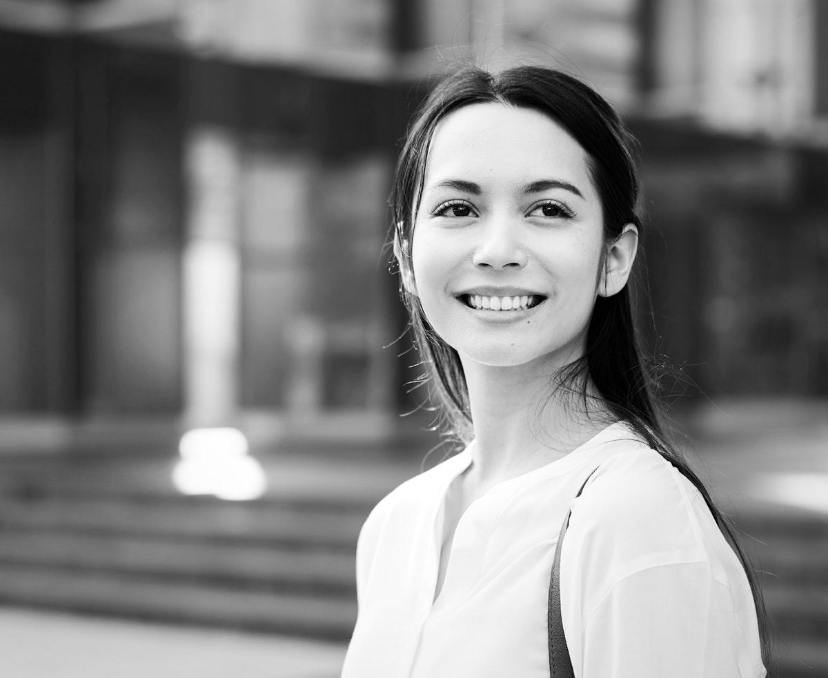 Portrait of beautiful asian woman smiling
