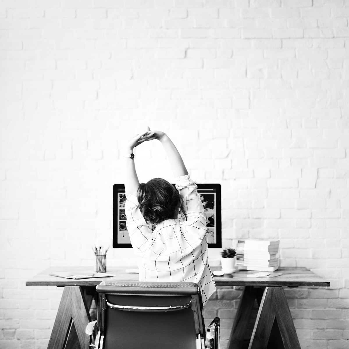 Designer working from her home