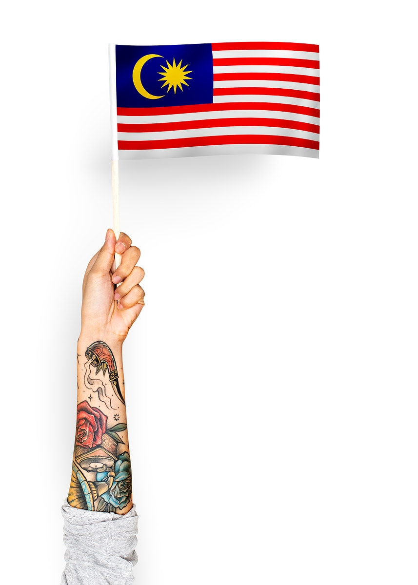 Person waving the flag of Malaysia