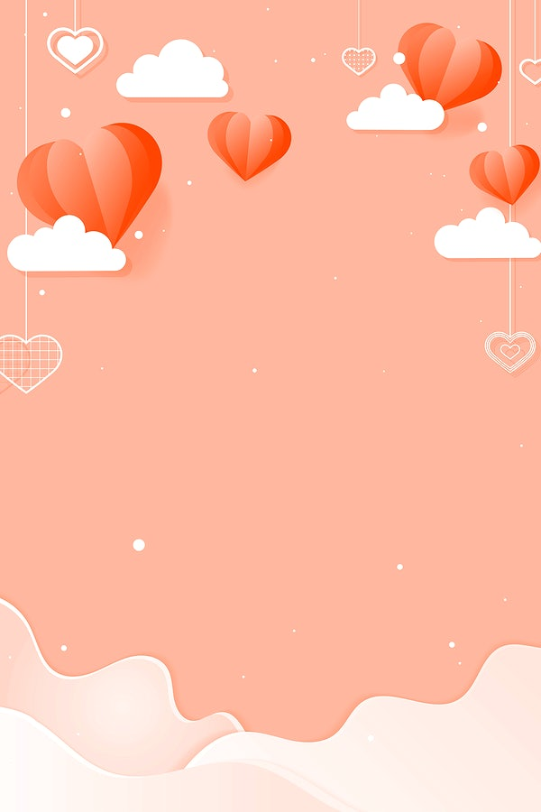 vector hanging hearts cloud wave peach background free vector 2702691 vector hanging hearts cloud wave peach
