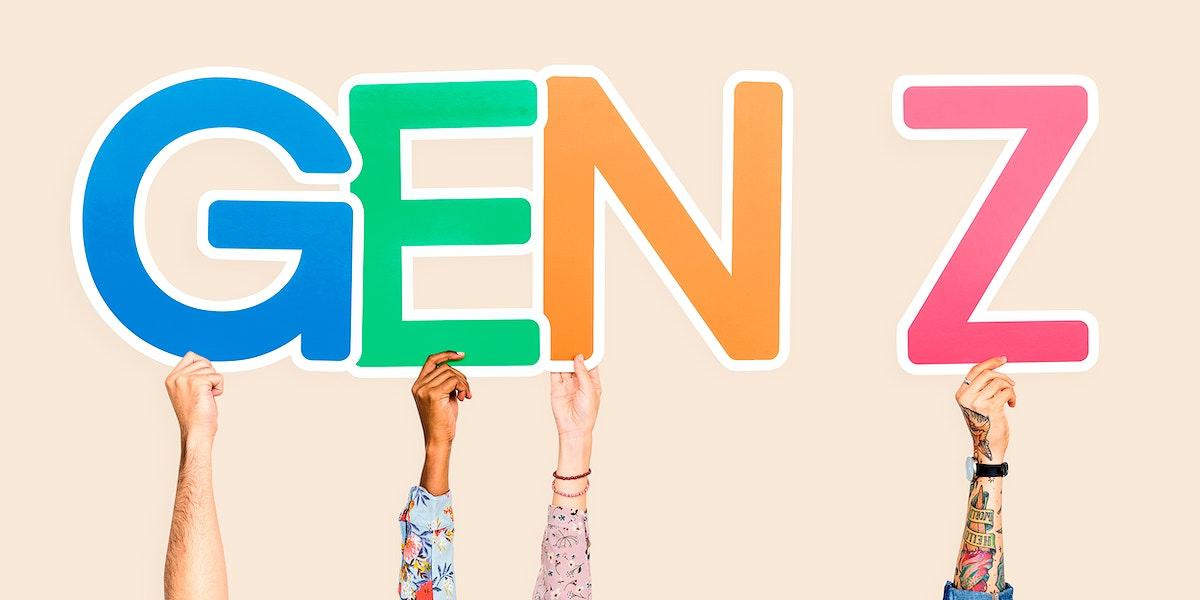 Hands holding the abbreviation Gen Z