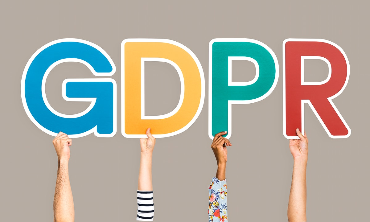 Colorful letters forming the word GDPR