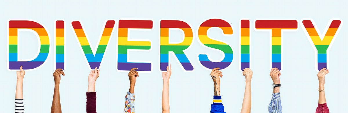 Hands holding the word Diversity