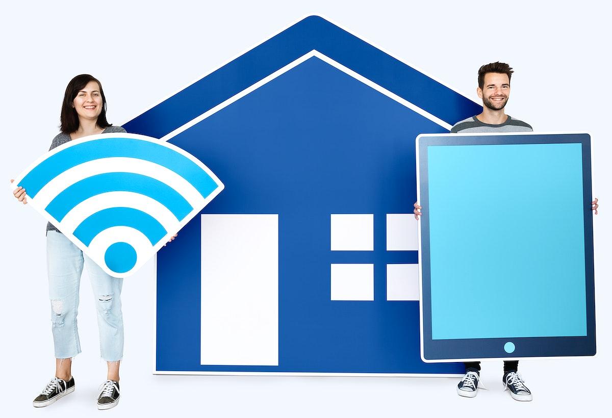Home wireless internet concept shoot