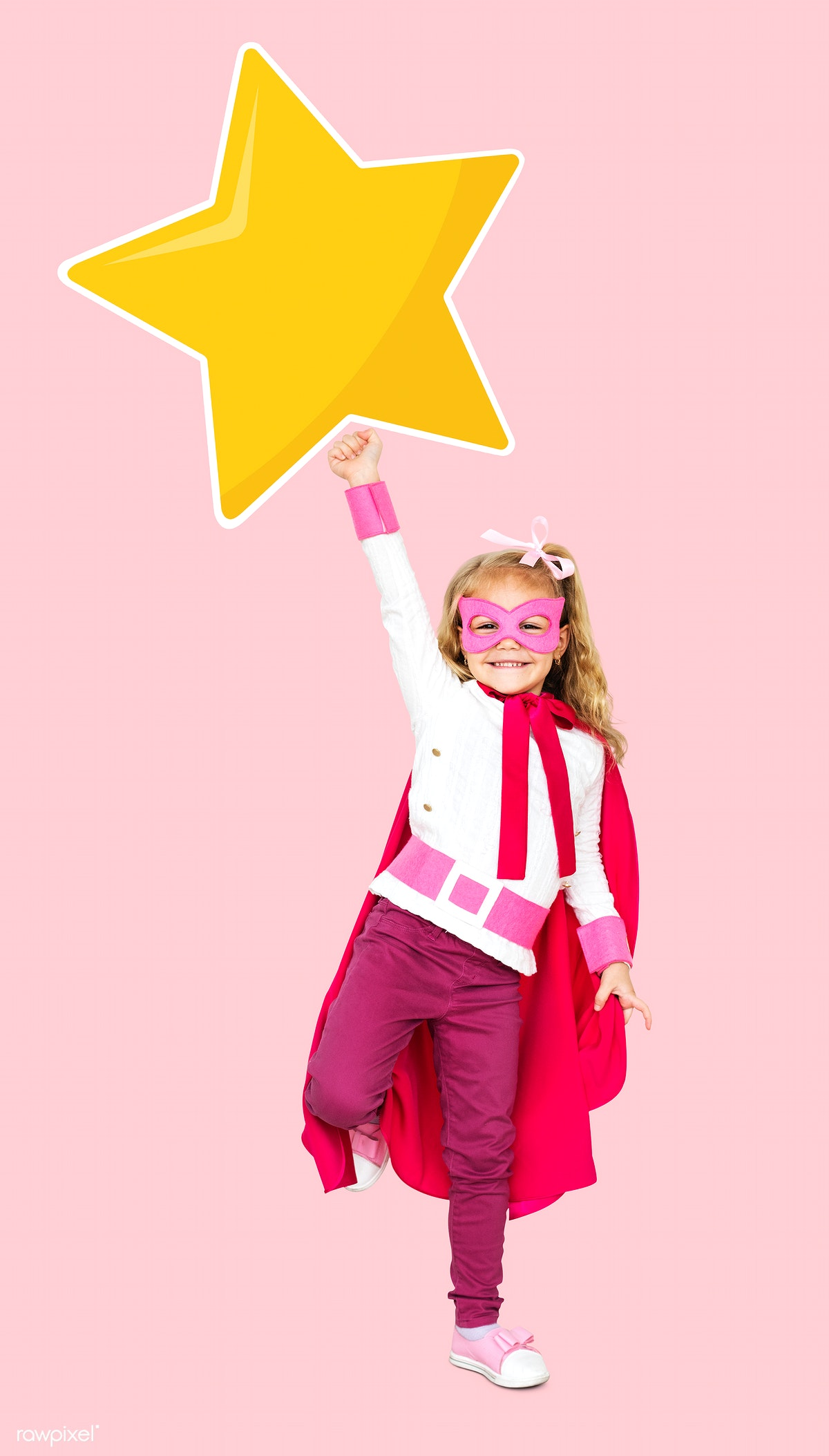 Superhero with a golden star | Free stock photo - 504176