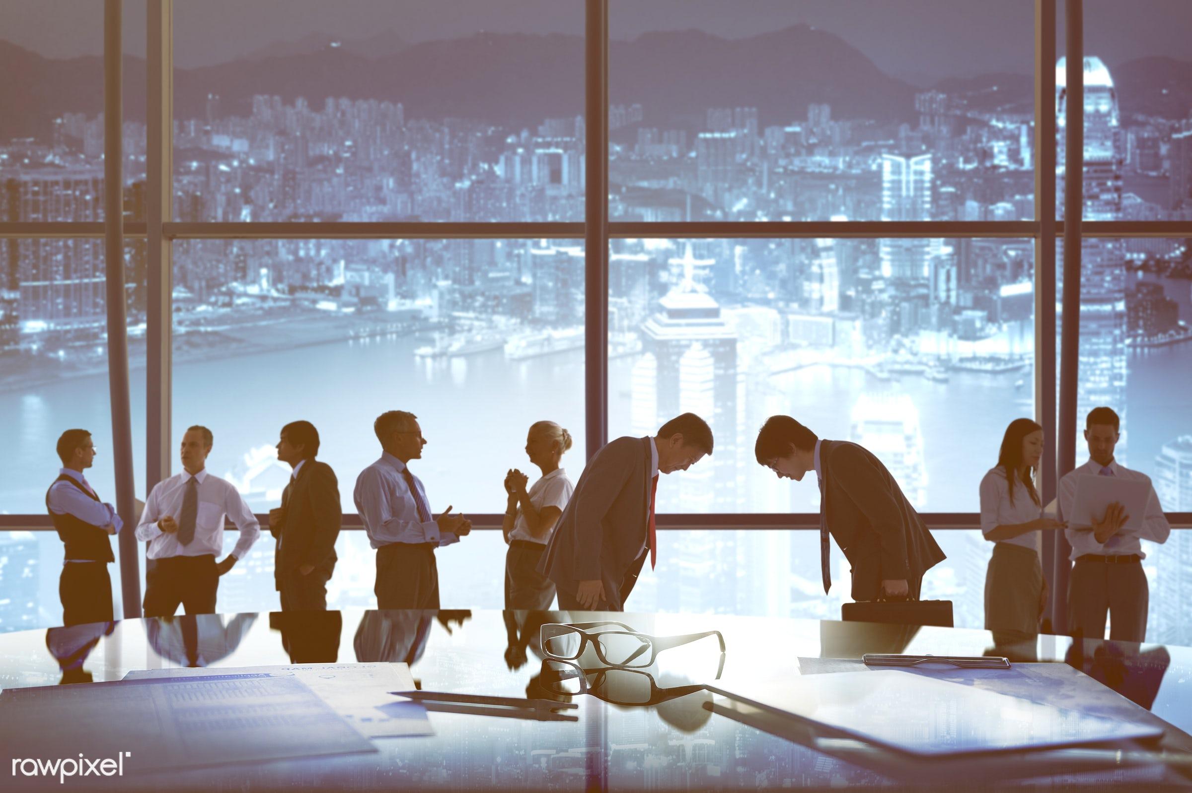 advice, agreement, backlit, board room, bowing, brainstorming, buildings, business, business people, businessmen,...