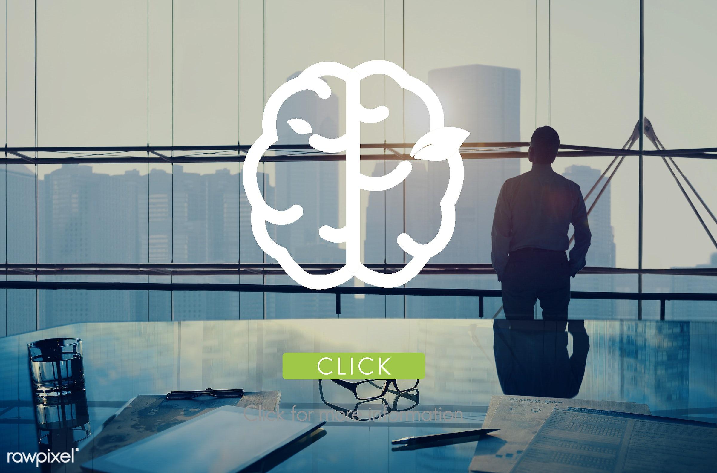 brain, brilliant, idea, action, alone, aspiration, backlit, big ideas, buildings, business, businessman, city, concept,...