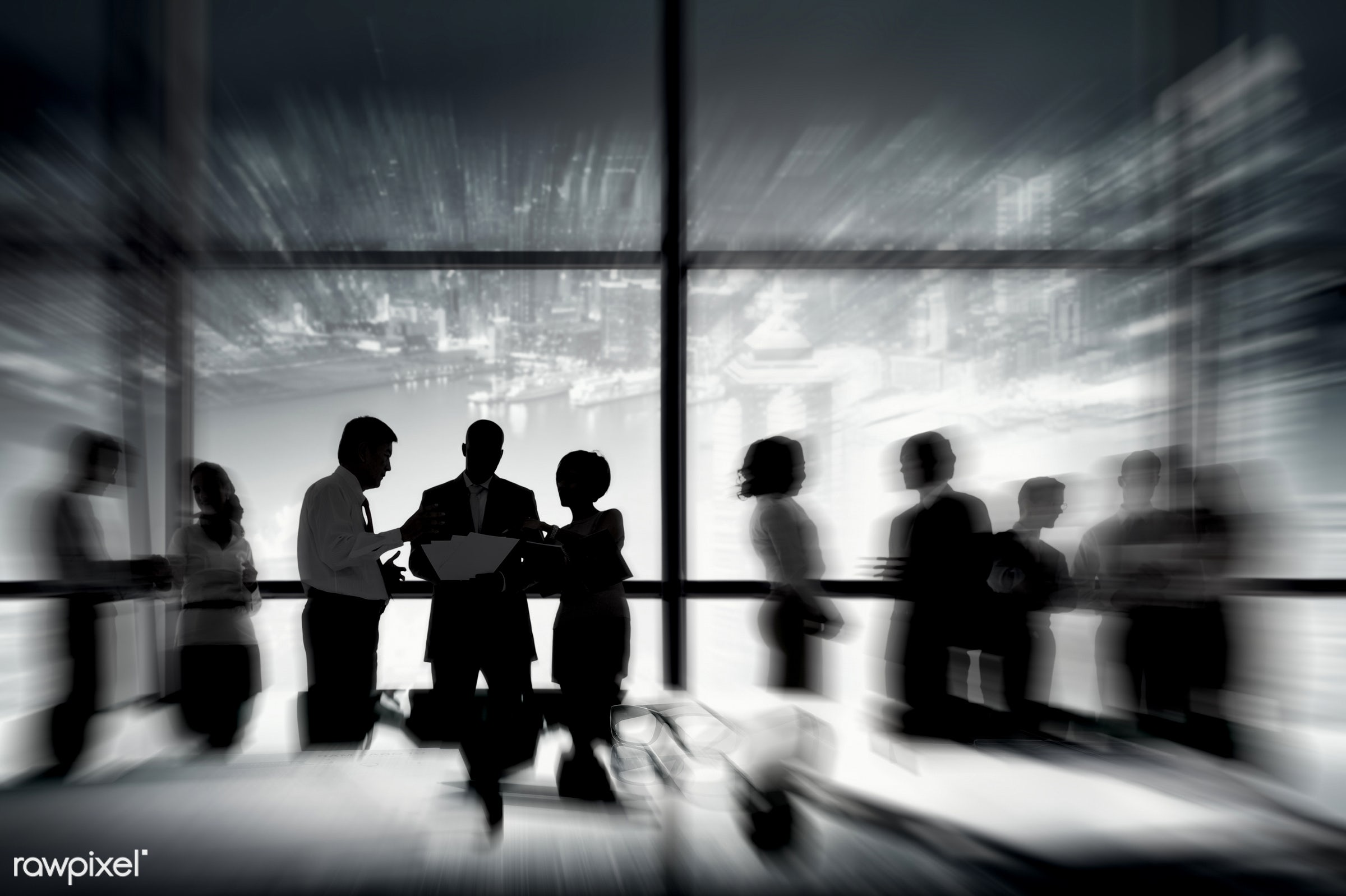 white, black, board room, brainstorming, building interior, business, business people, businessman, businesswoman, city,...
