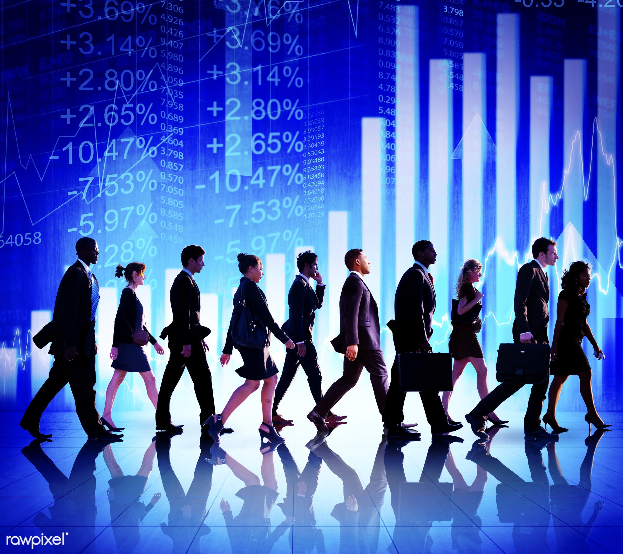 walking, business, team, african descent, asian ethnicity, bar graph, business people, businessmen, businesswomen, charts,...