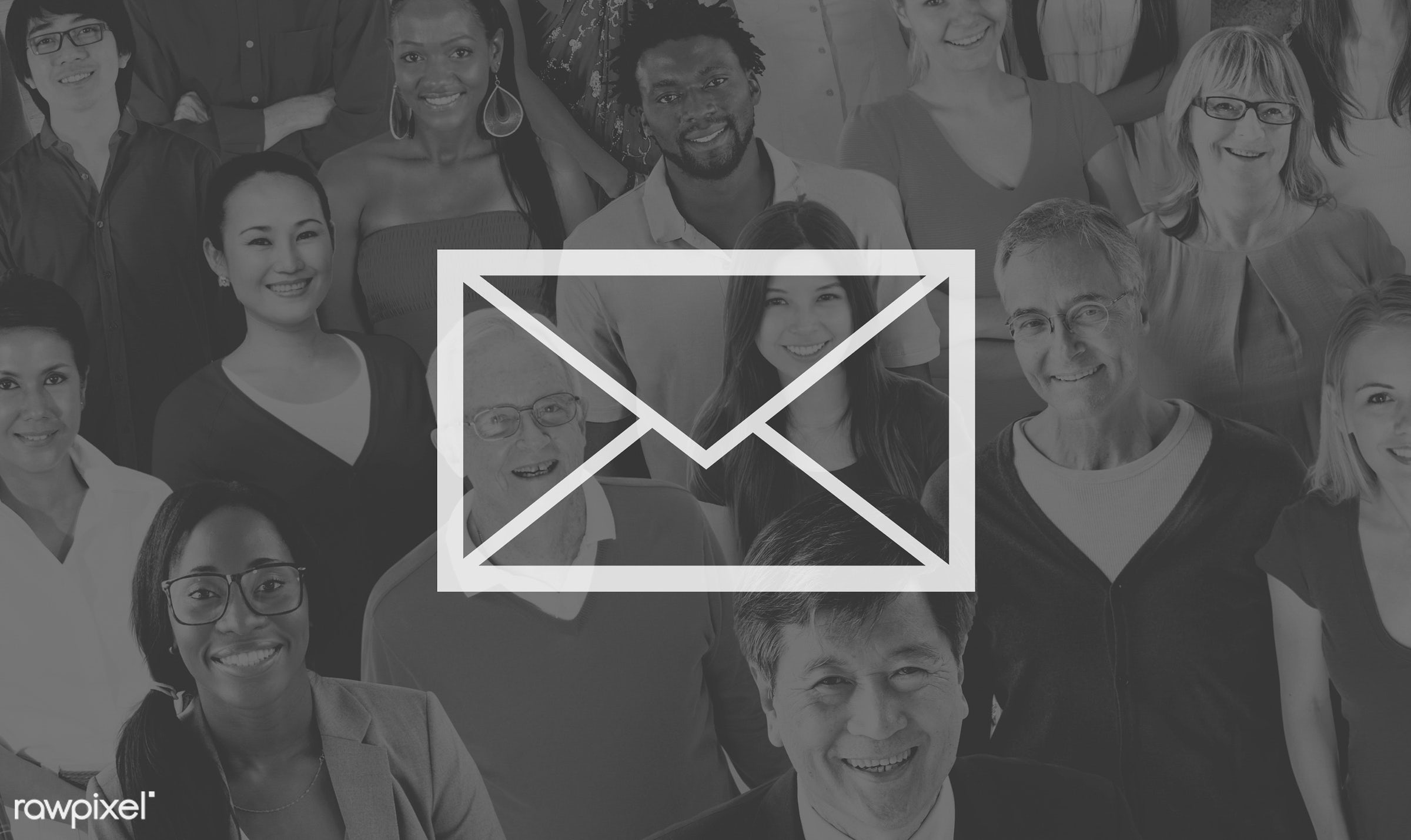 email, african descent, asian ethnicity, casual, cheerful, communication, community, connection, crowd, different, diverse,...
