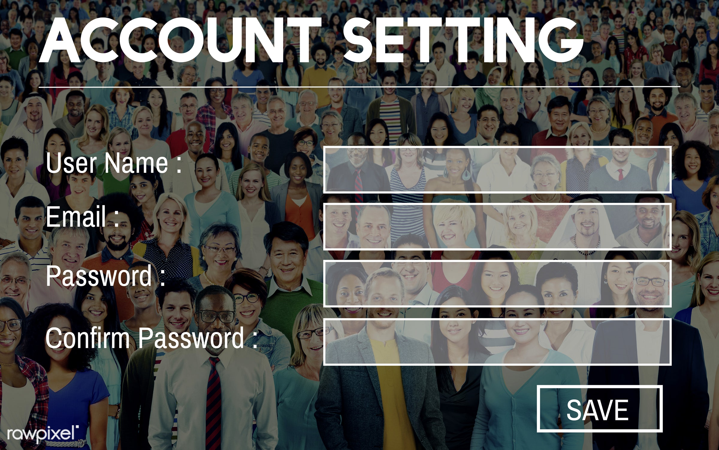 account, account setting, african descent, asian ethnicity, casual, cheerful, community, crowd, different, diverse,...