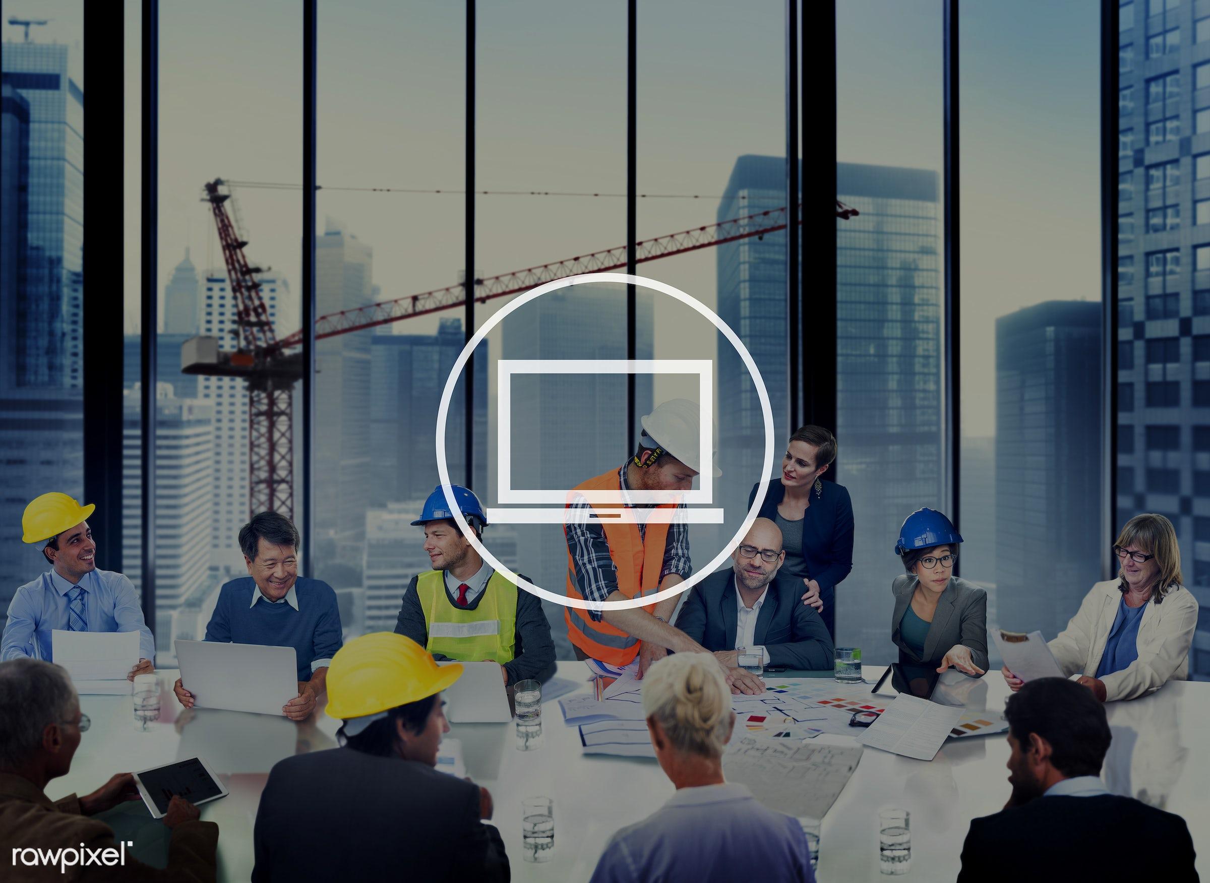 engineer, blueprint, architect, asian ethnicity, brainstorming, building, business, business people, businessmen,...