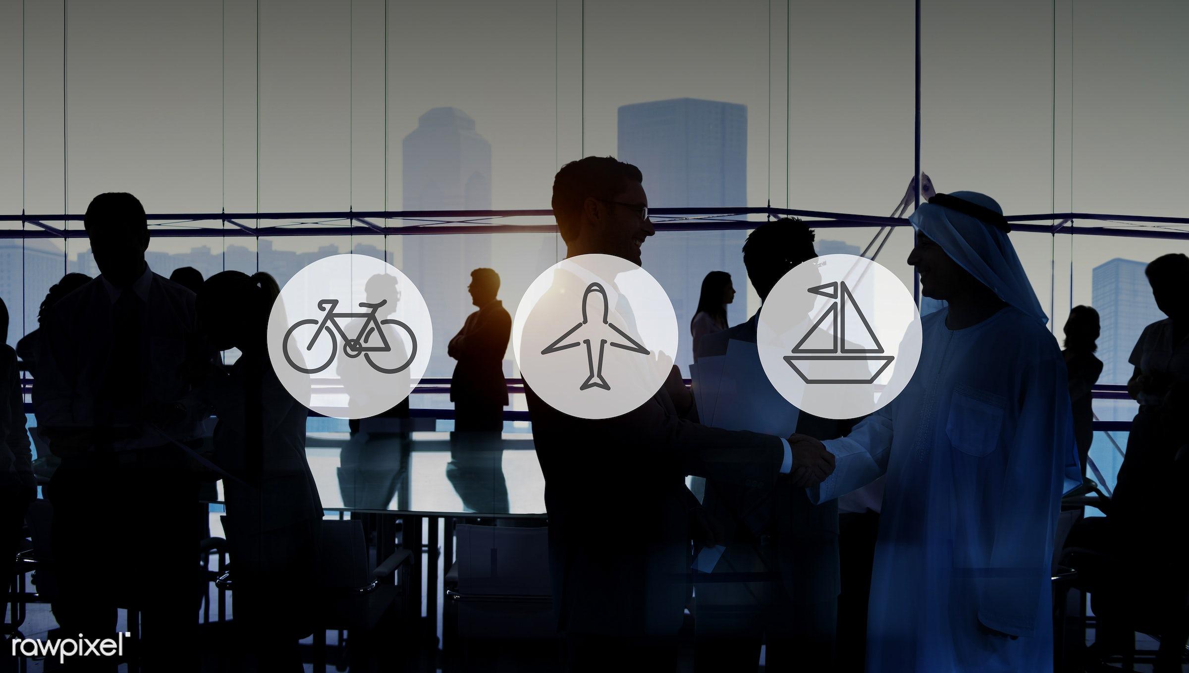 industry, agreement, air, airplane, back lit, bicycle, bike, brainstorming, business people, businessmen, businesswomen,...