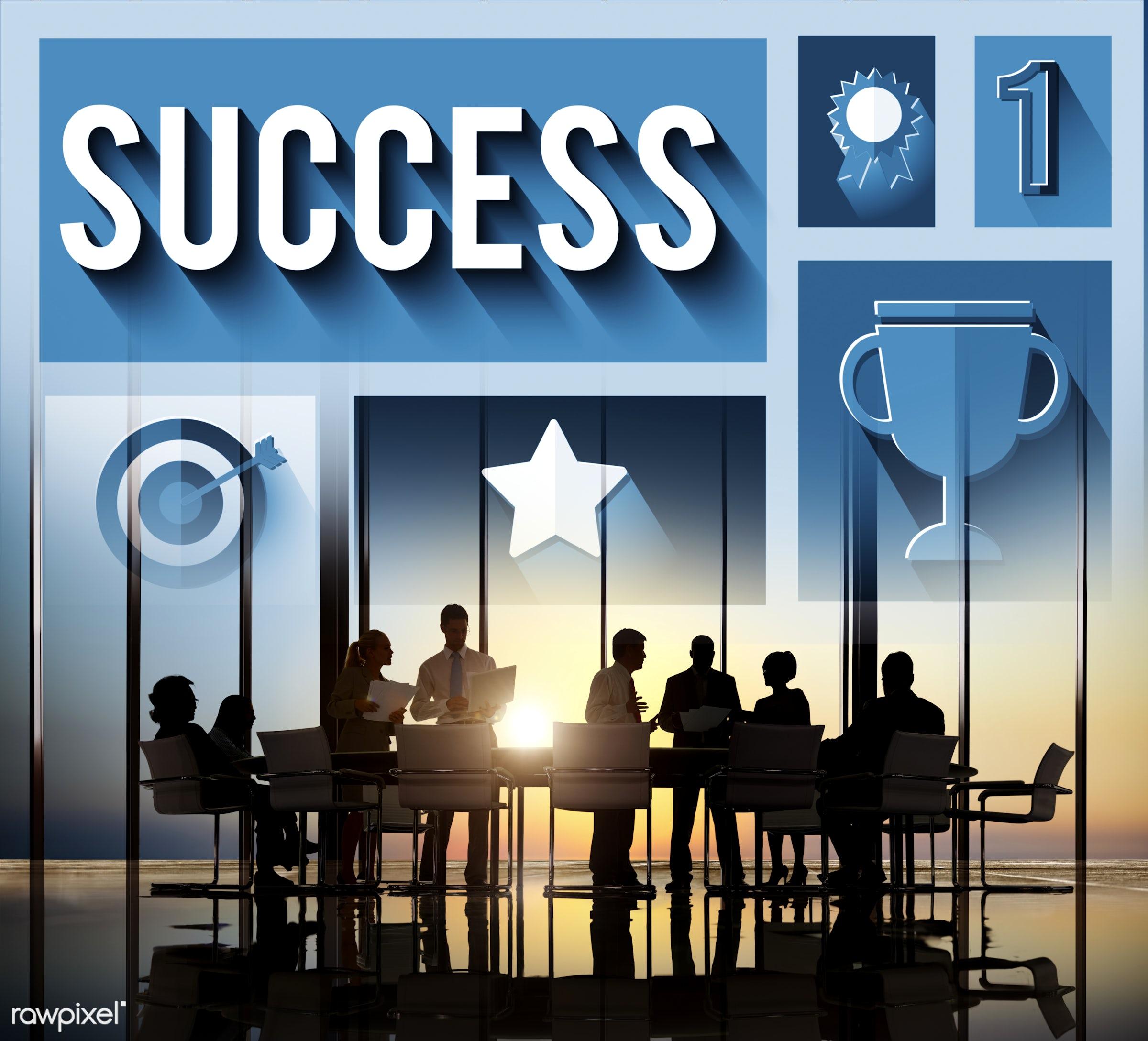 success, trophy, winning, accomplishment, achievement, brainstorming, business people, businessmen, businesswomen,...
