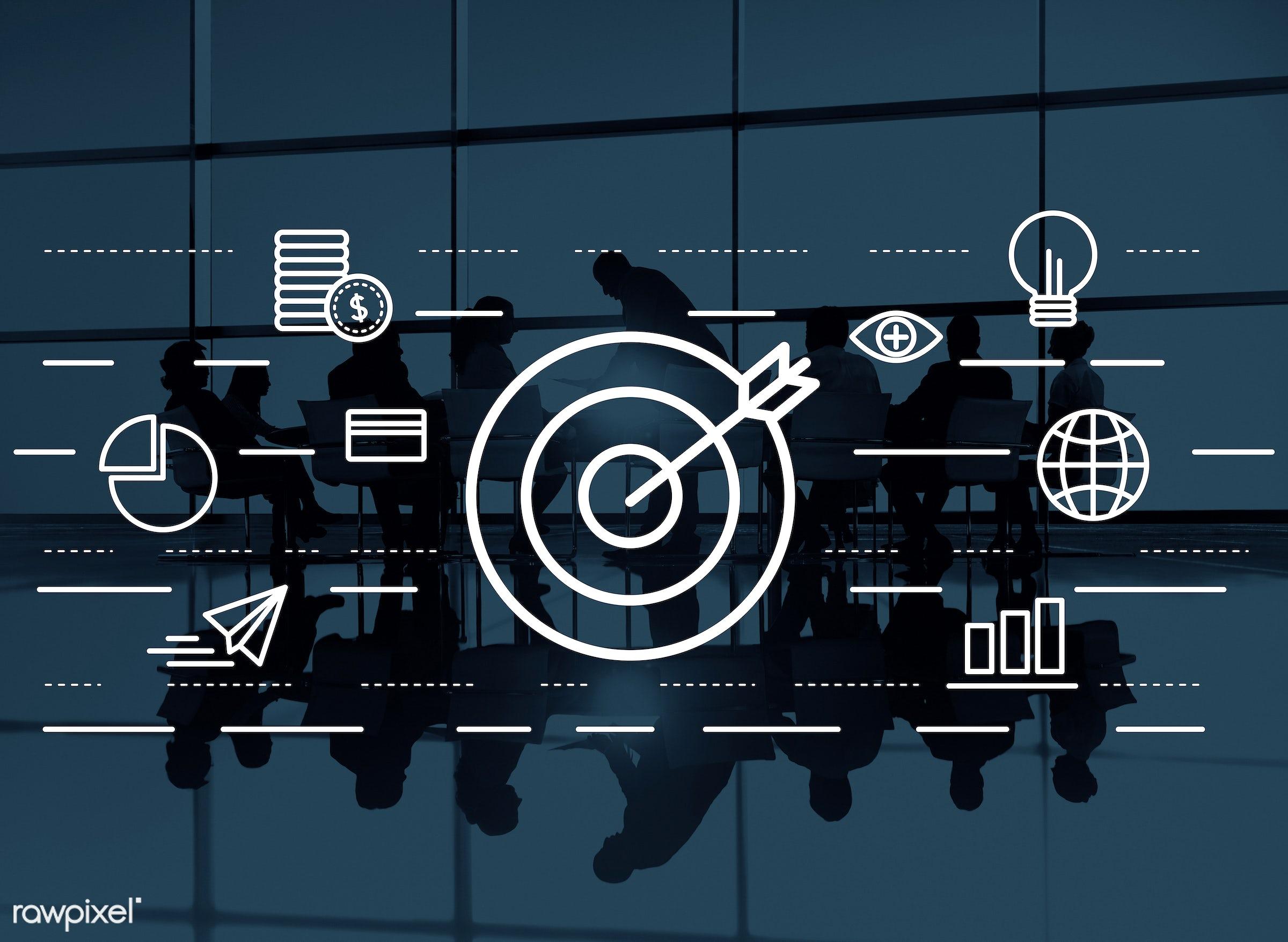 analyst, boardroom, brainstorming, bulb, bull-eye, business, business people, businessmen, businesswomen, cash, chart,...