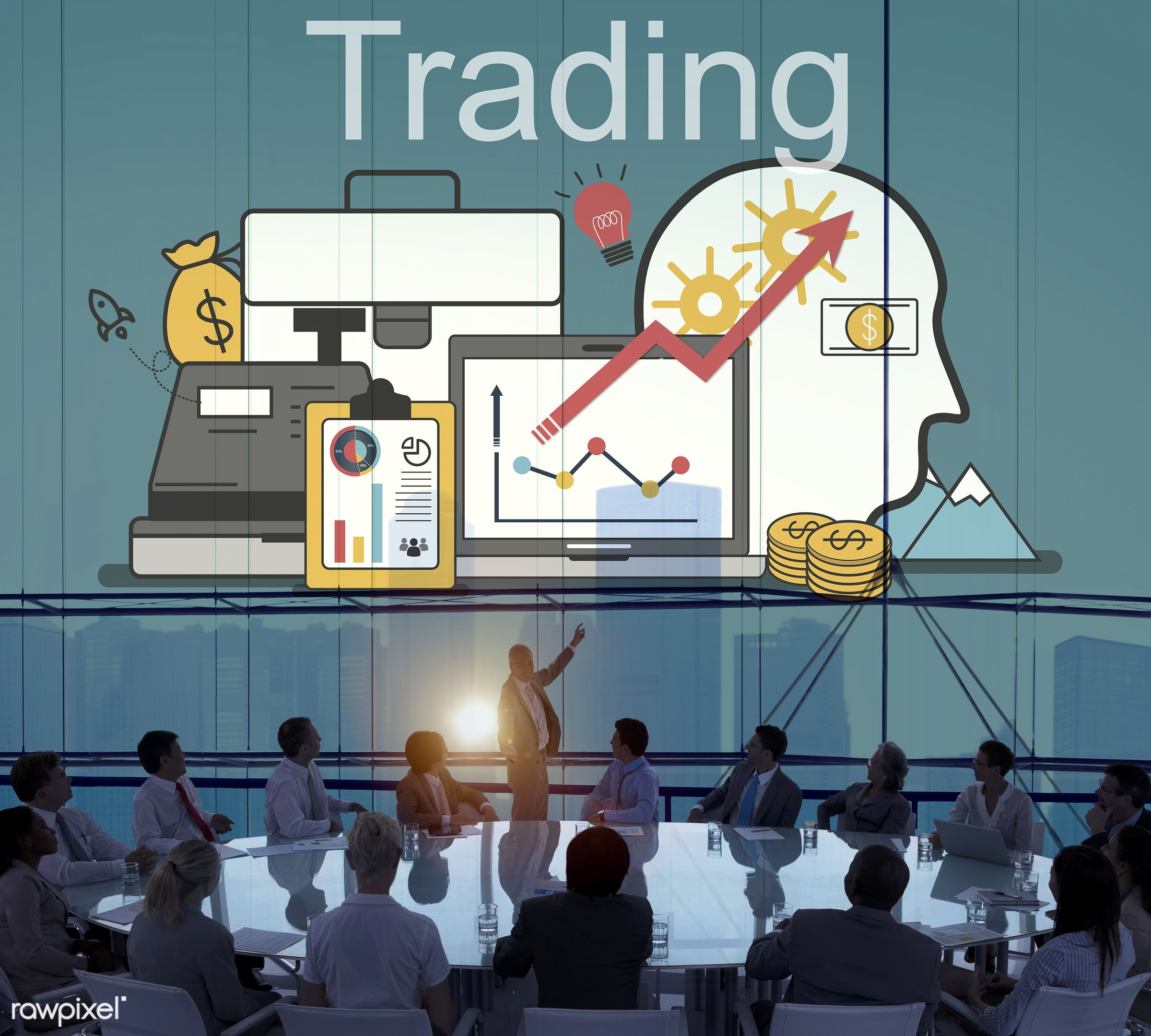 forex, trading, audience, backlit, banking, business, businessmen, businesswomen, chart, city, colleagues, communication,...