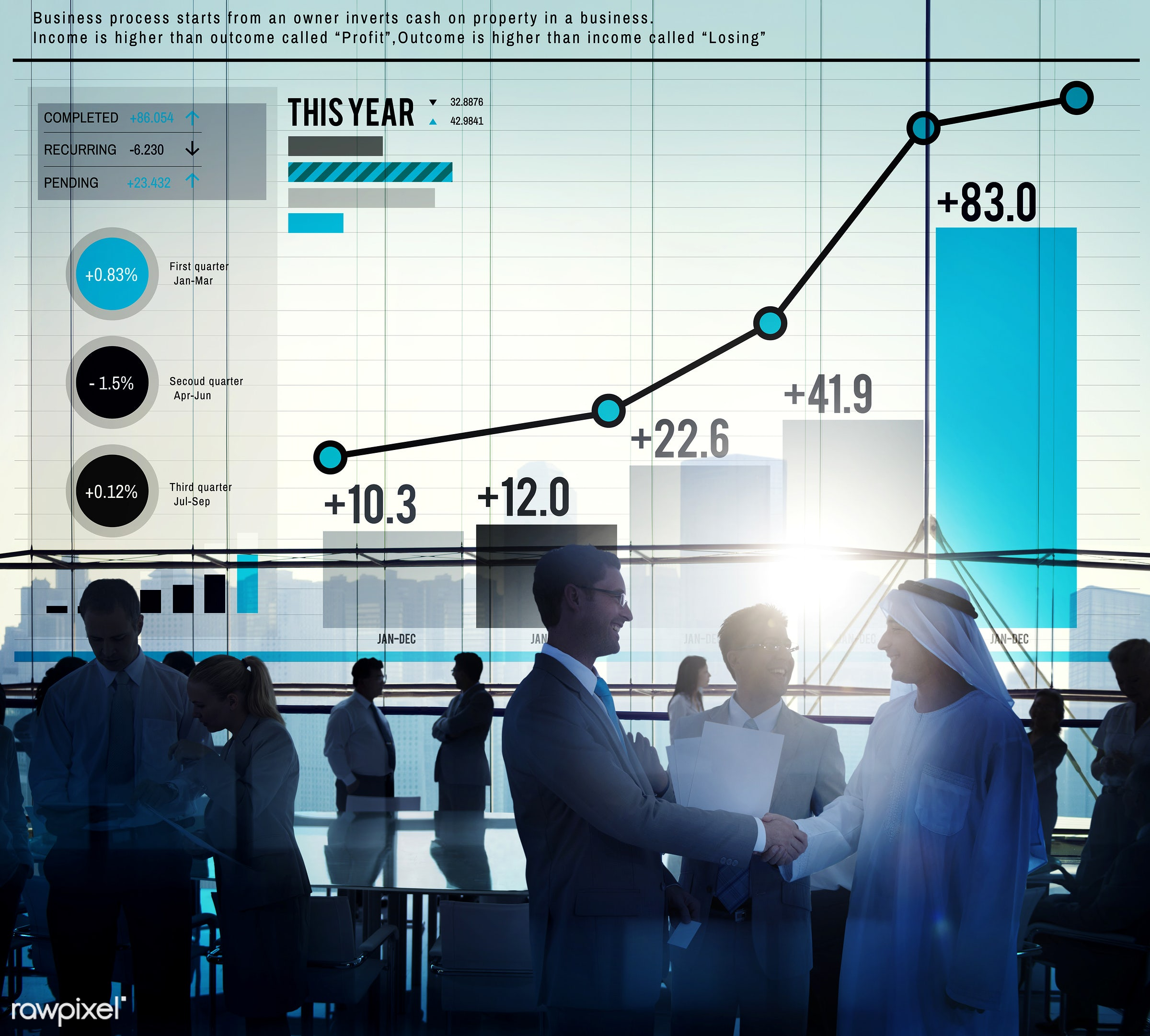 analysis, bar graph, business people, businessmen, businesswomen, chart, communication, data, data analysis, deal, direction...