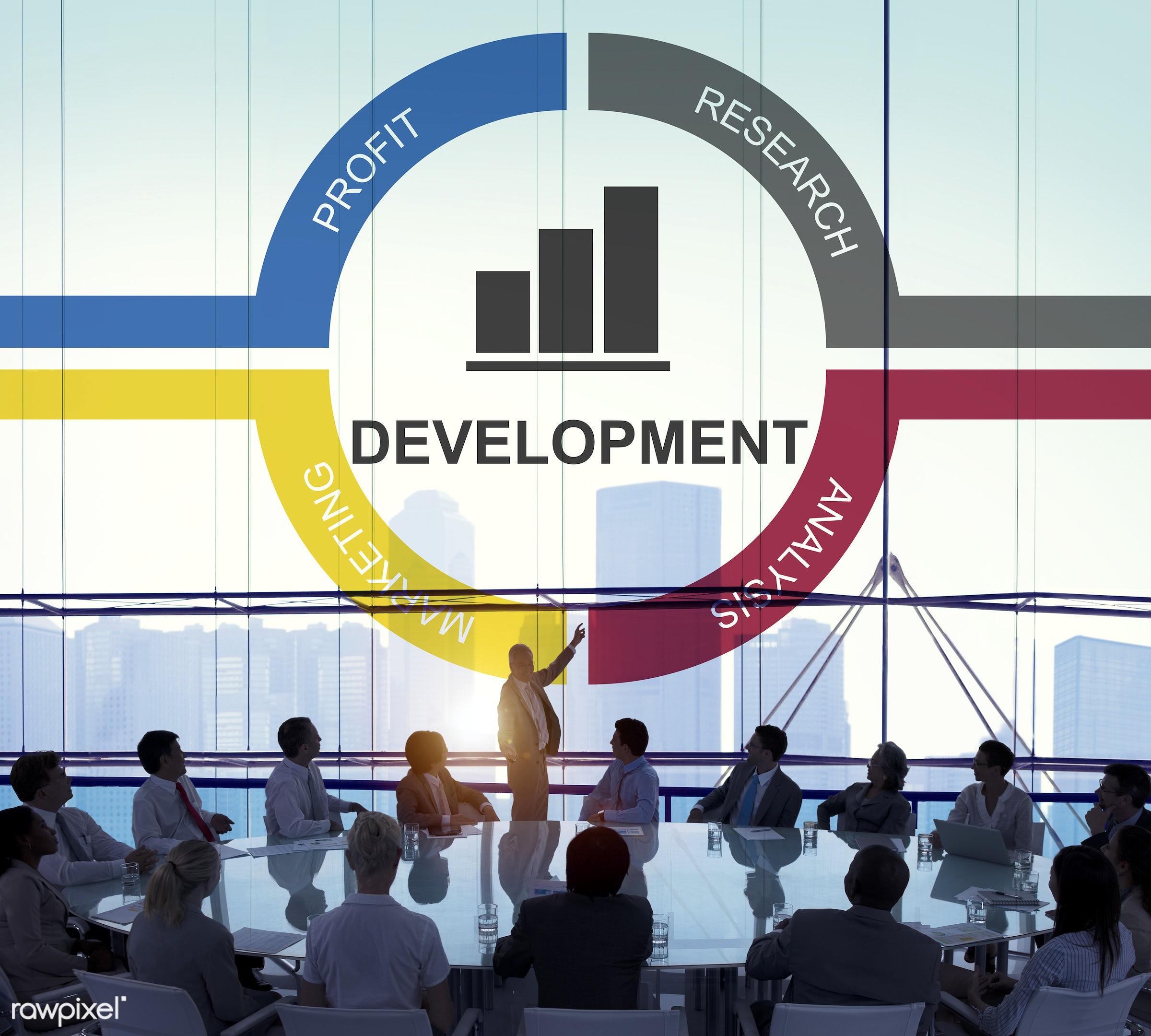 achievement, aim, analysis, audience, backlit, bar chart, bar graph, budget, business, businessmen, businesswomen, chart,...