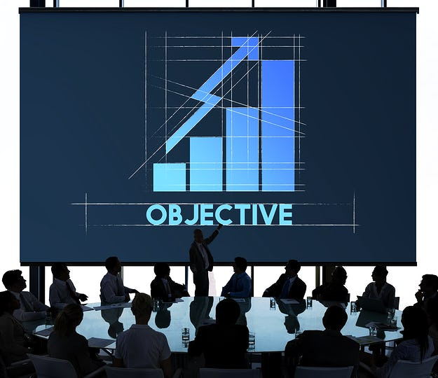 Objective Business Growth Graph Graphic Concept