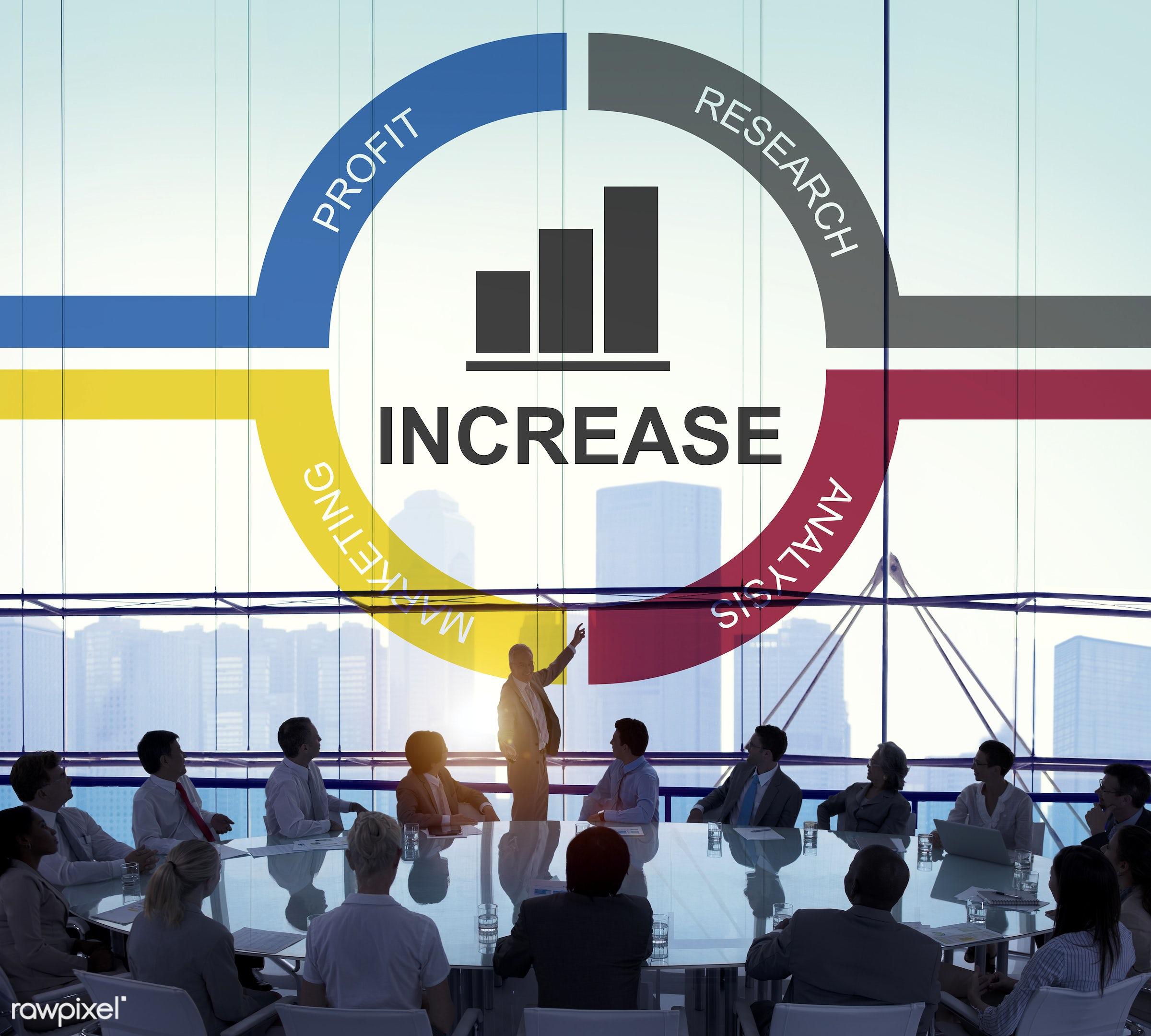 office, aim, ambition, audience, backlit, benefits, bonus, business, businessmen, businesswomen, calculation, city,...