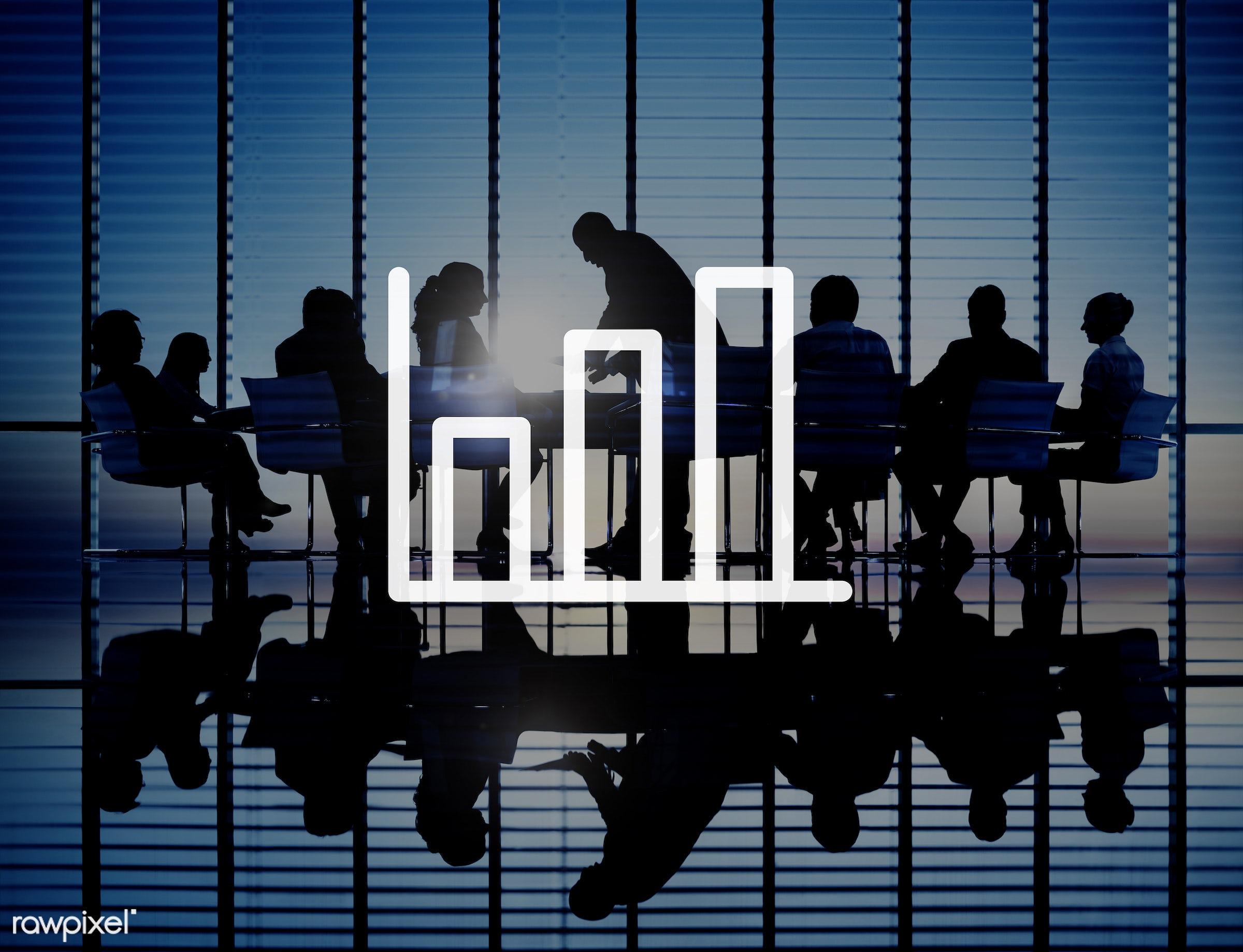 succeed, analyzing, back lit, bar, brainstorming, business, businessmen, businesswomen, chart, communication, conference,...