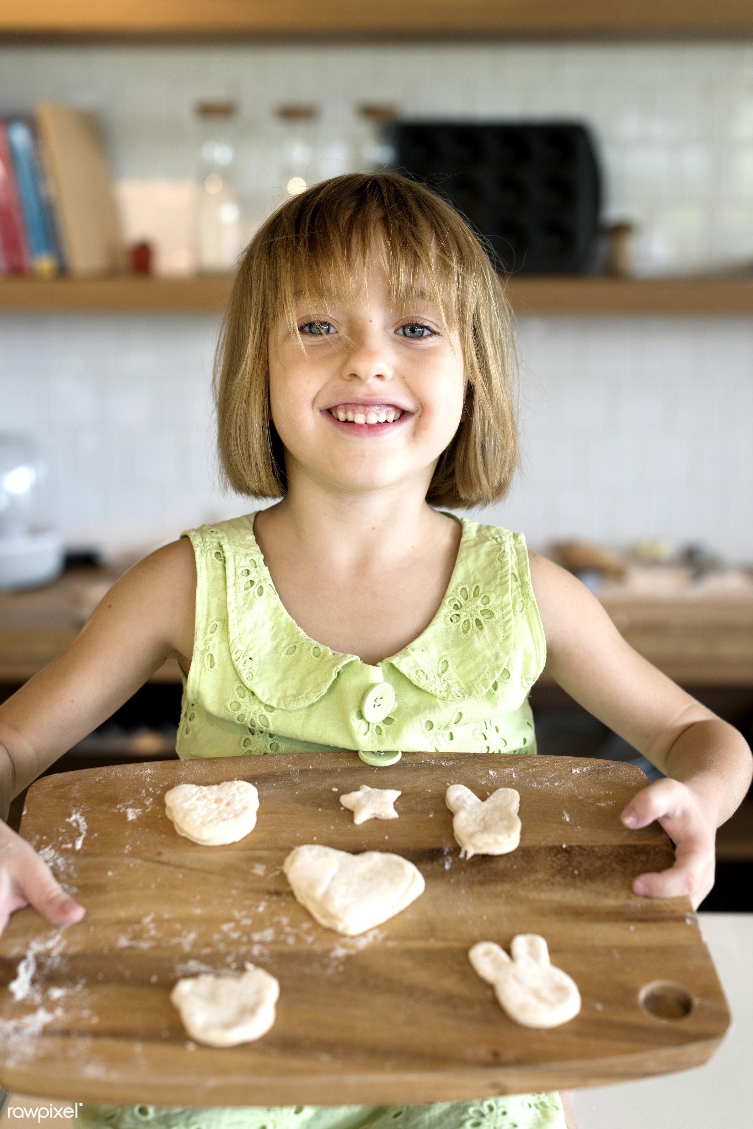 activity, alone, american, bake, baker, bakery, baking, blond, cheerful, child, cook, cookies, daughter, dessert, enjoyment...