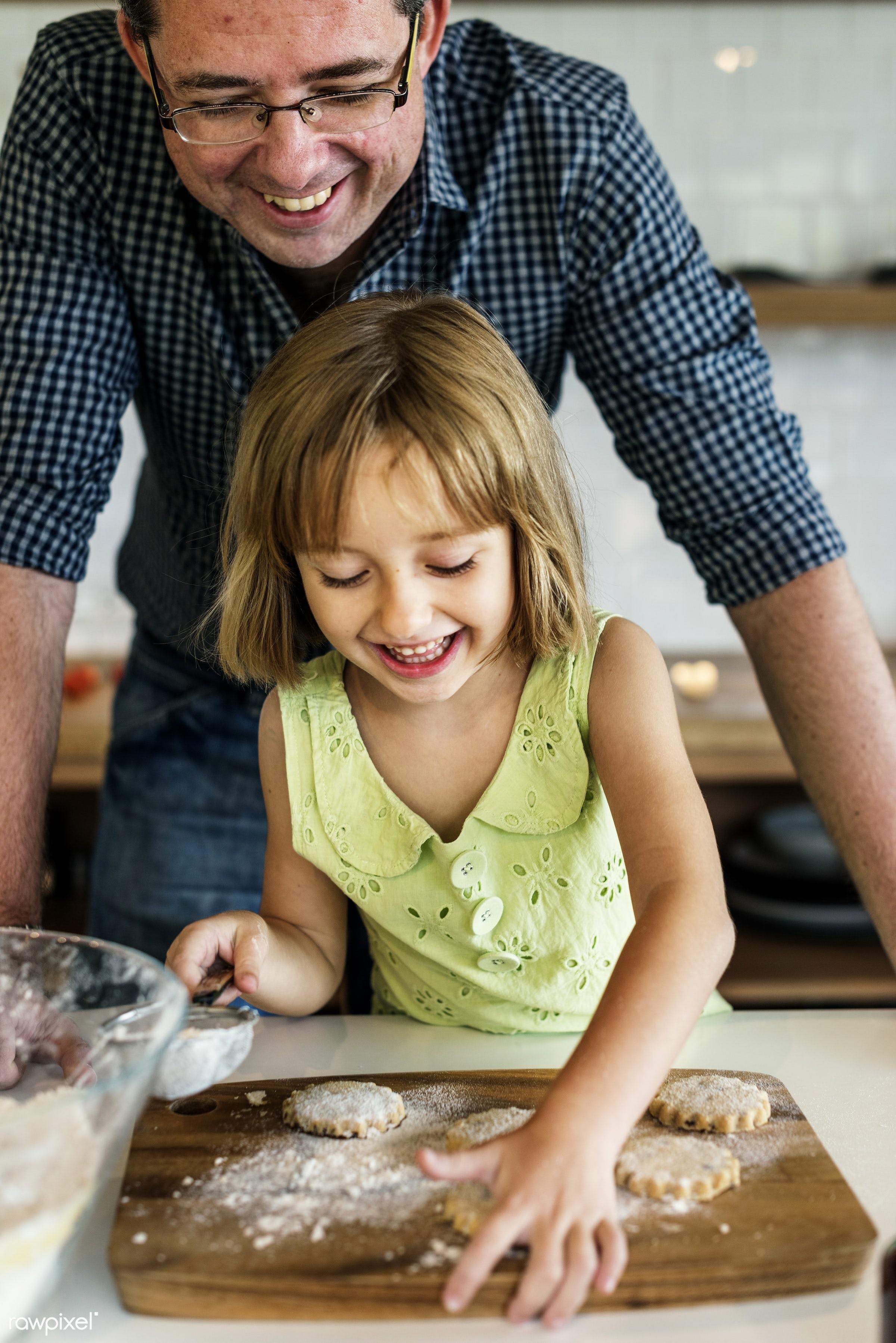 activity, american, bake, baker, bakery, baking, biscuit, blond, caucasian, child, cookies, dad, daughter, dessert, european...