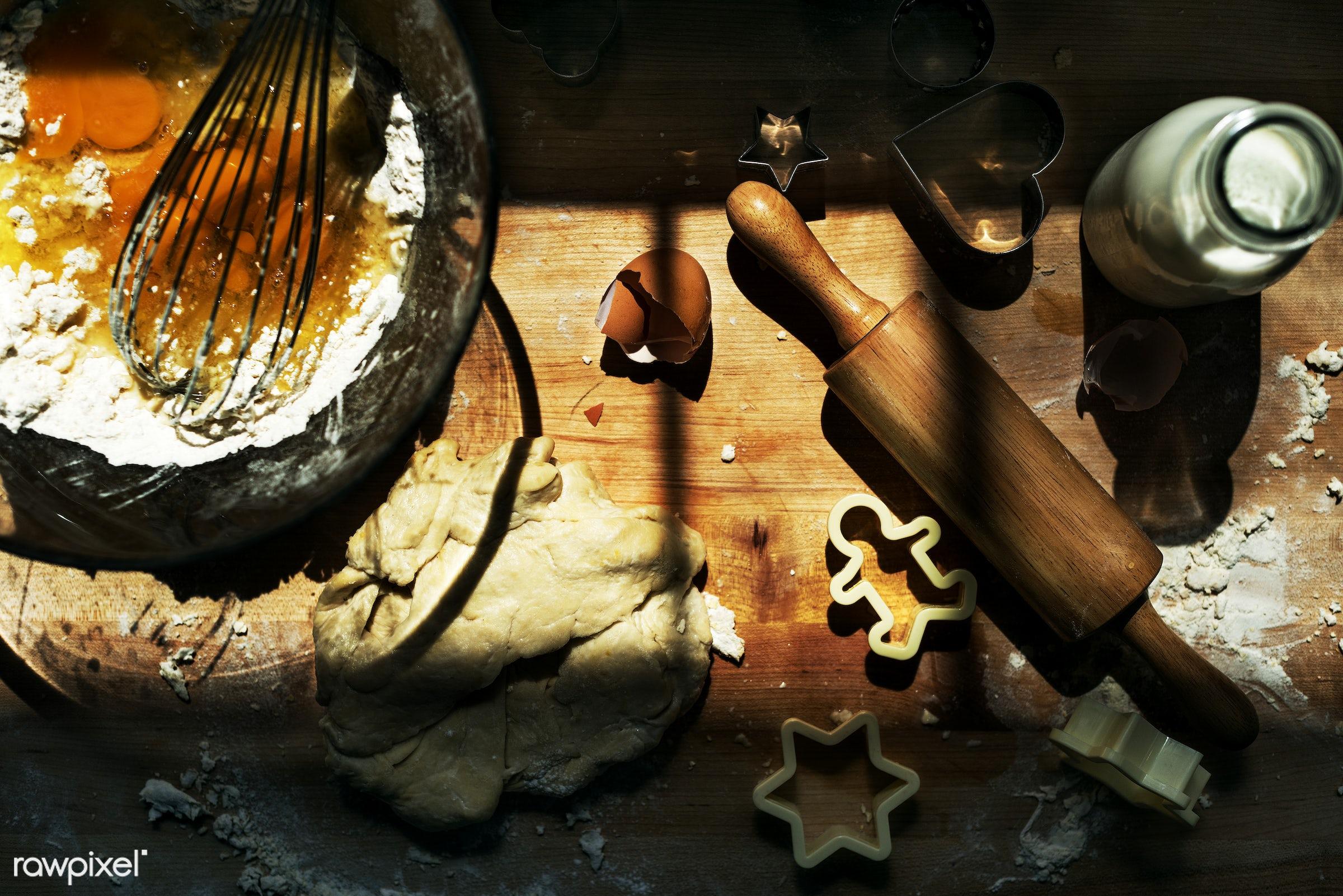 baking, bake, bake shop, baker, bakery, butter, cake, closeup, cookies, cooking, dessert, dough, equipment, flour, food,...