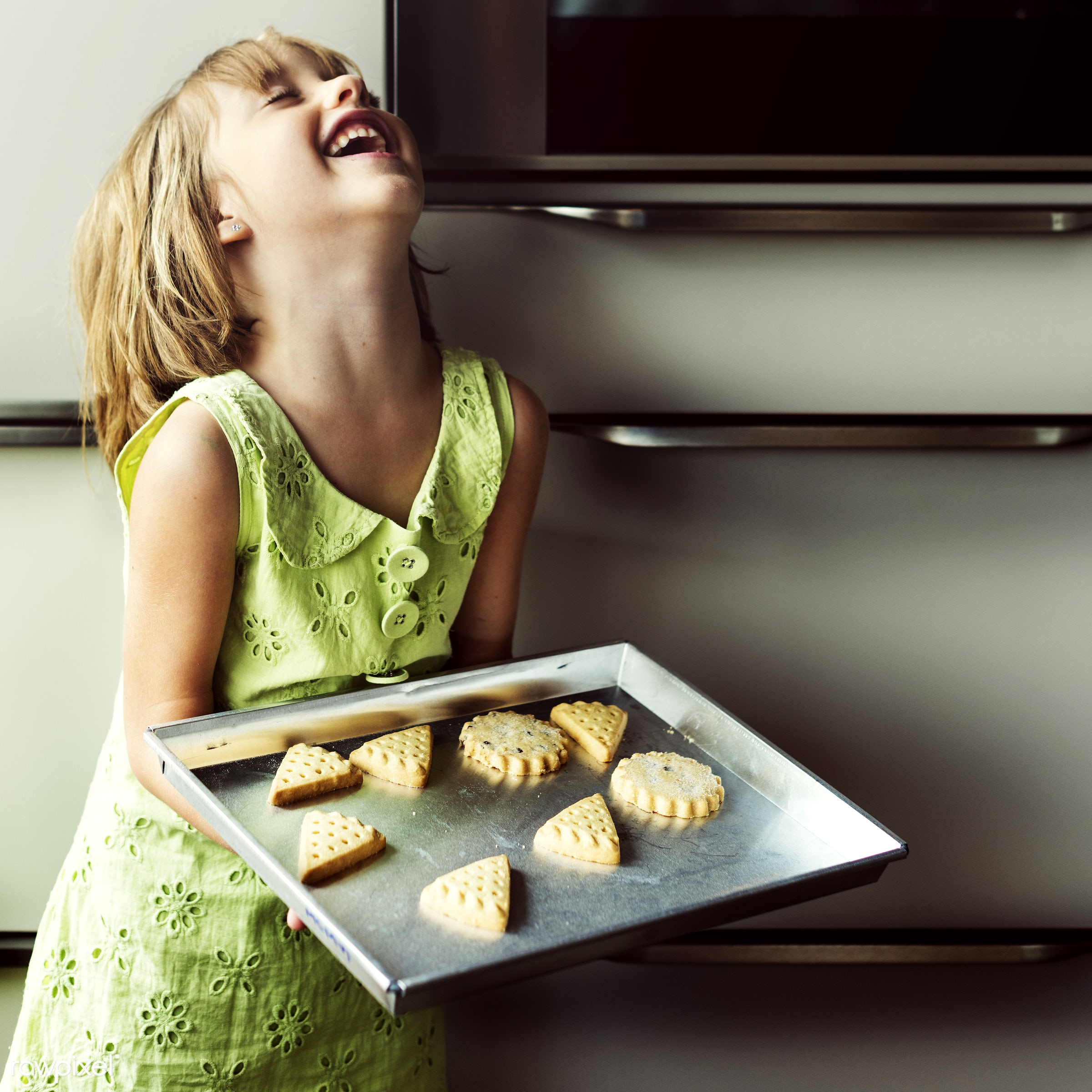 child, activity, alone, american, bake, baker, bakery, baking, biscuit, blond, caucasian, closeup, cookies, daughter,...