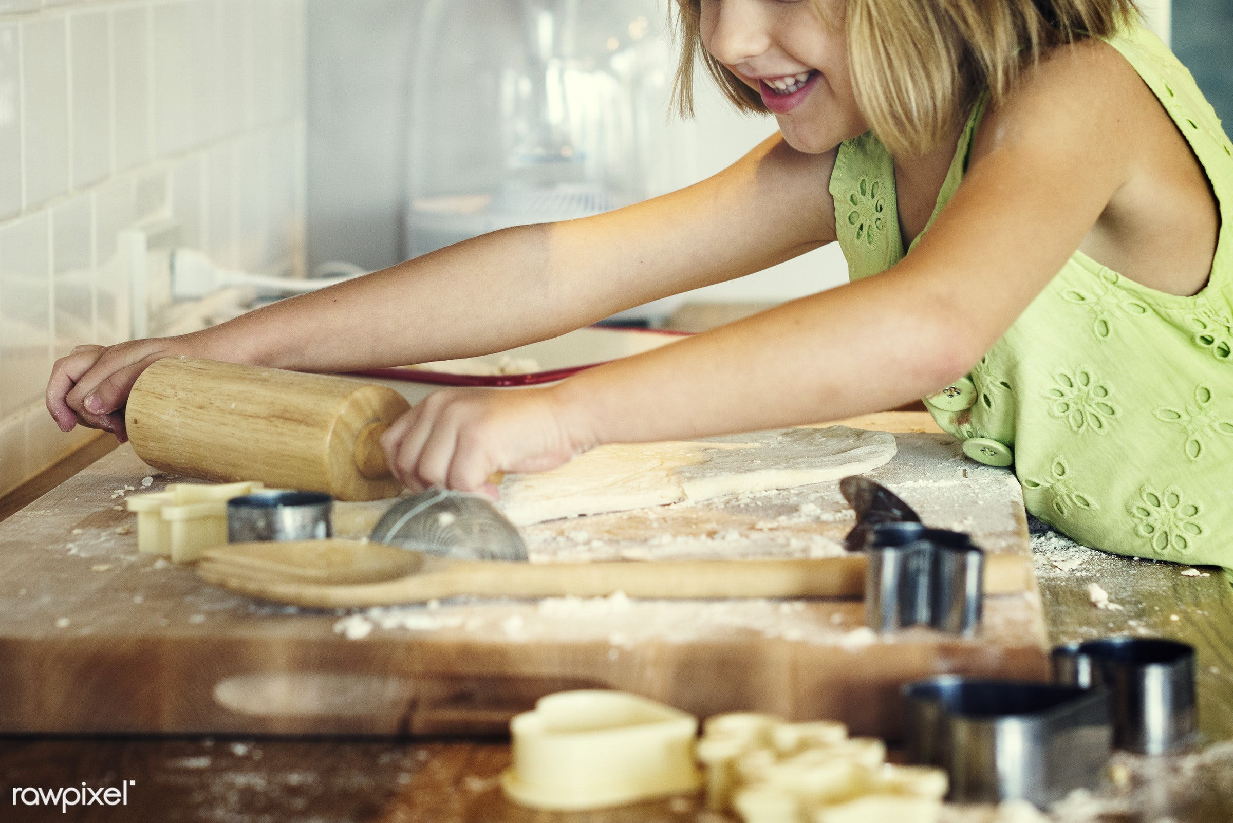 activity, alone, american, bake, baker, bakery, baking, blond, caucasian, cheerful, child, cook, cookies, daughter, dessert...