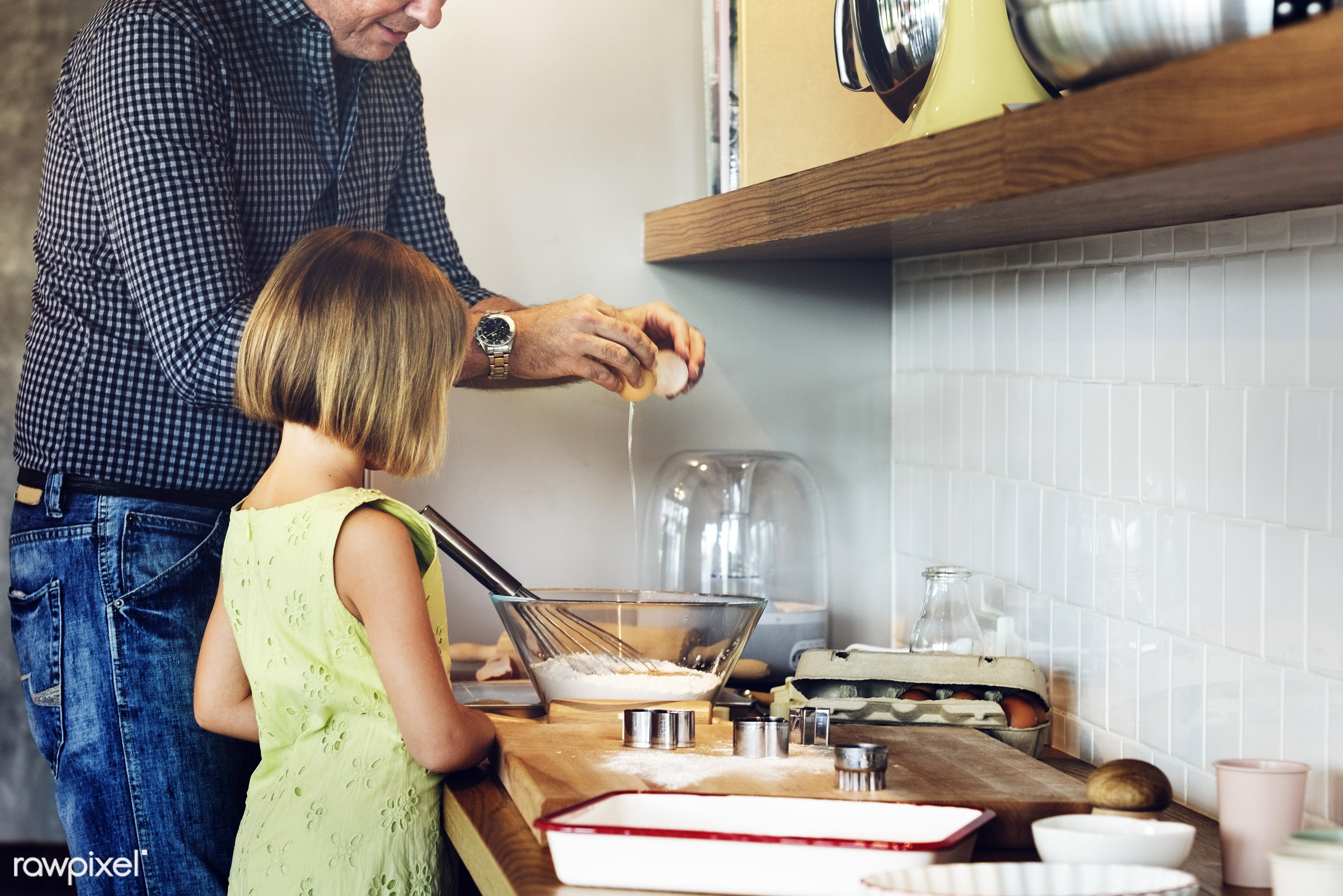 family, dad, father, child, home, kid, kitchen, girl, activity, american, bake, baker, bakery, baking, biscuit, blond,...