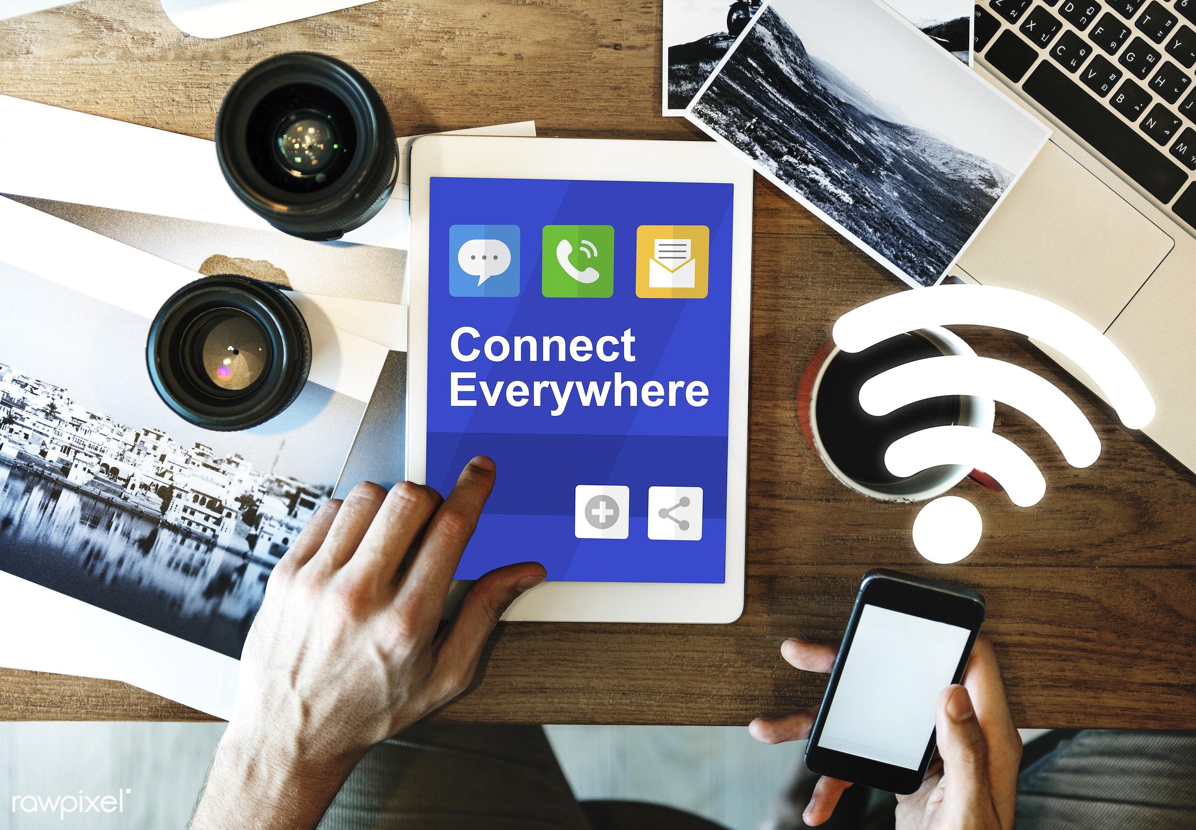 printer, wireless, digital marketing, ecommerce, blog, browsing, cellphone, cloud connection, communication, computer,...