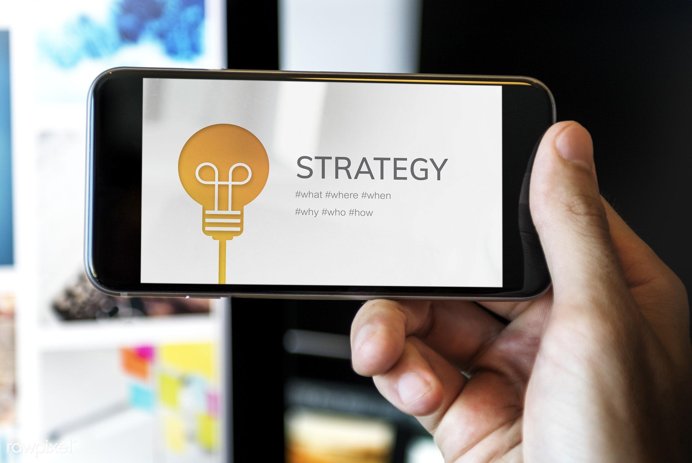 strategic, blog, browsing, communication, connect, development, digital device, guidelines, man, media, mission, mobile,...