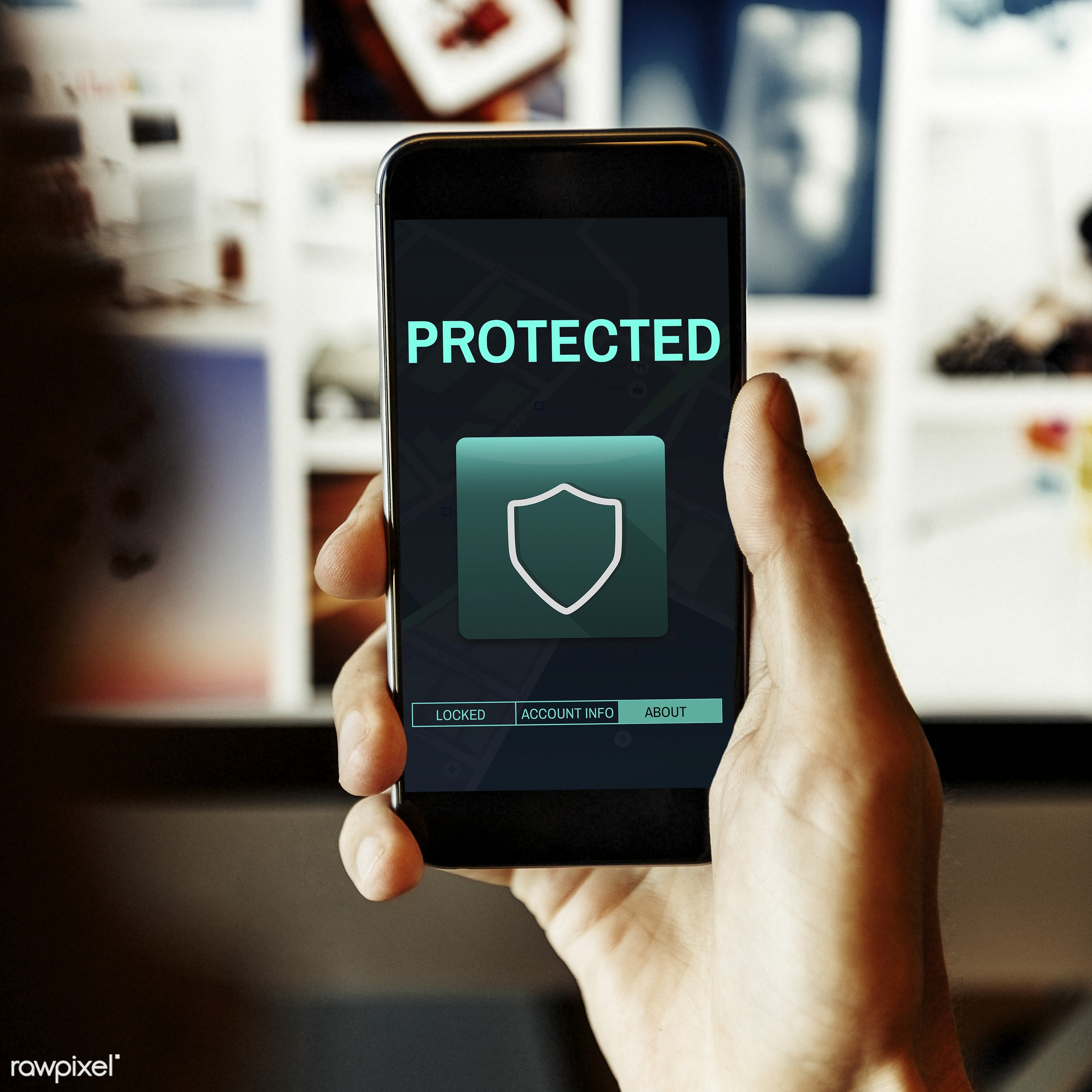 Mobile security - mobile, phone, privacy, private, technology, banking, confidentiality, account info, administration, break...