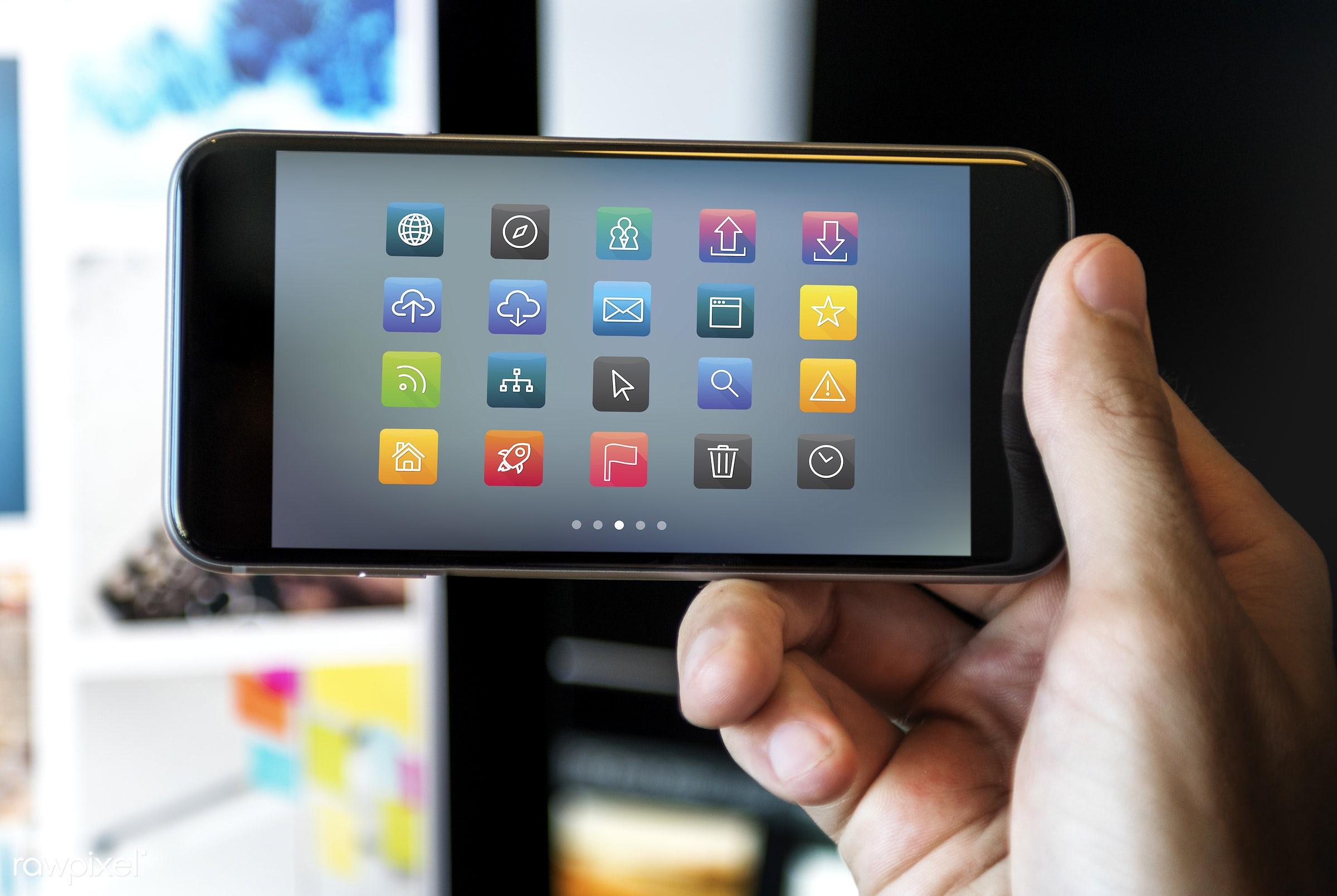 Mobile application - application, blog, browsing, cloud, communication, connect, connection, data, digital, digital device,...