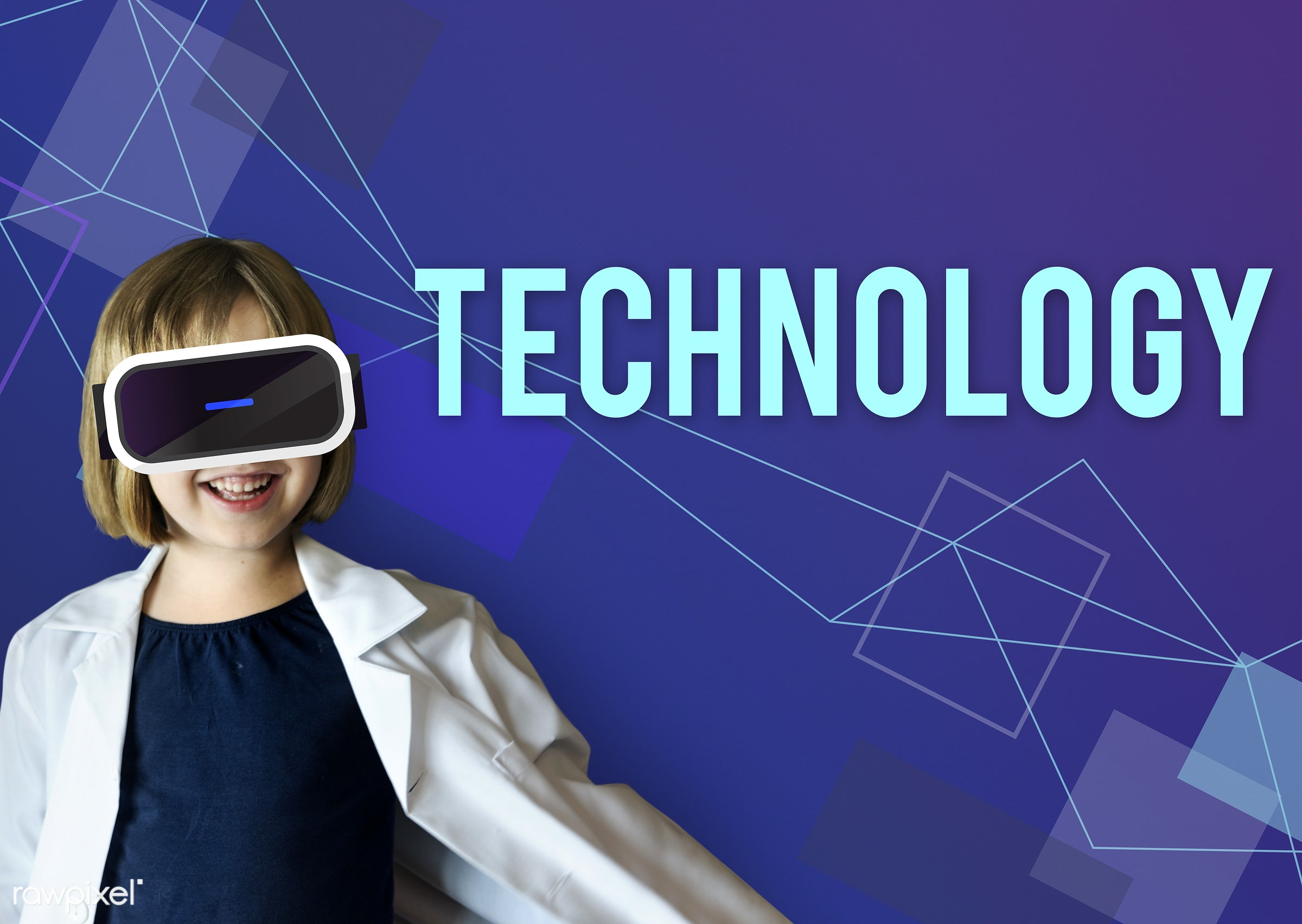 Kids and technology - kid, technology, learning, vr, education, vision, adorable, blackboard, cheerful, child, childhood,...