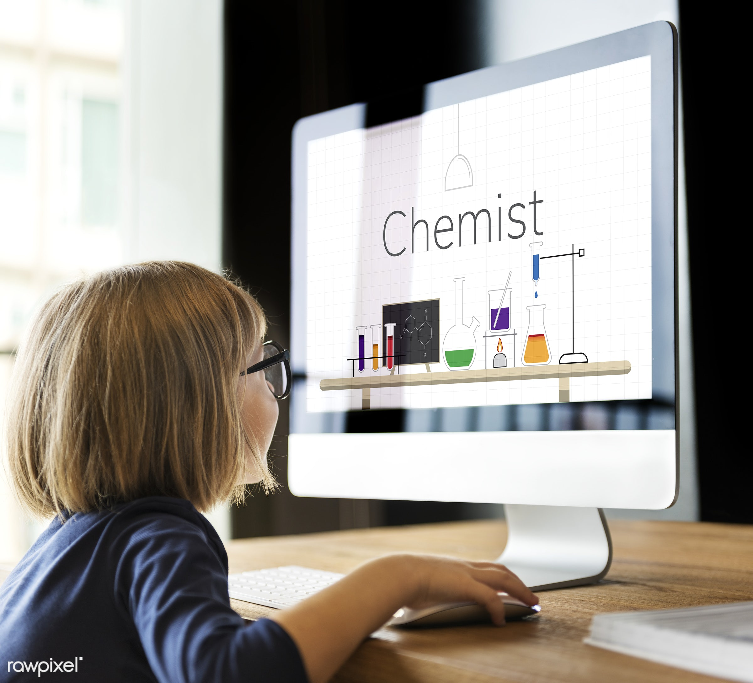 browsing, caucasian, chem, chemical, chemist, chemistry, child, childhood, computer, cute, device, digital, education, exam...