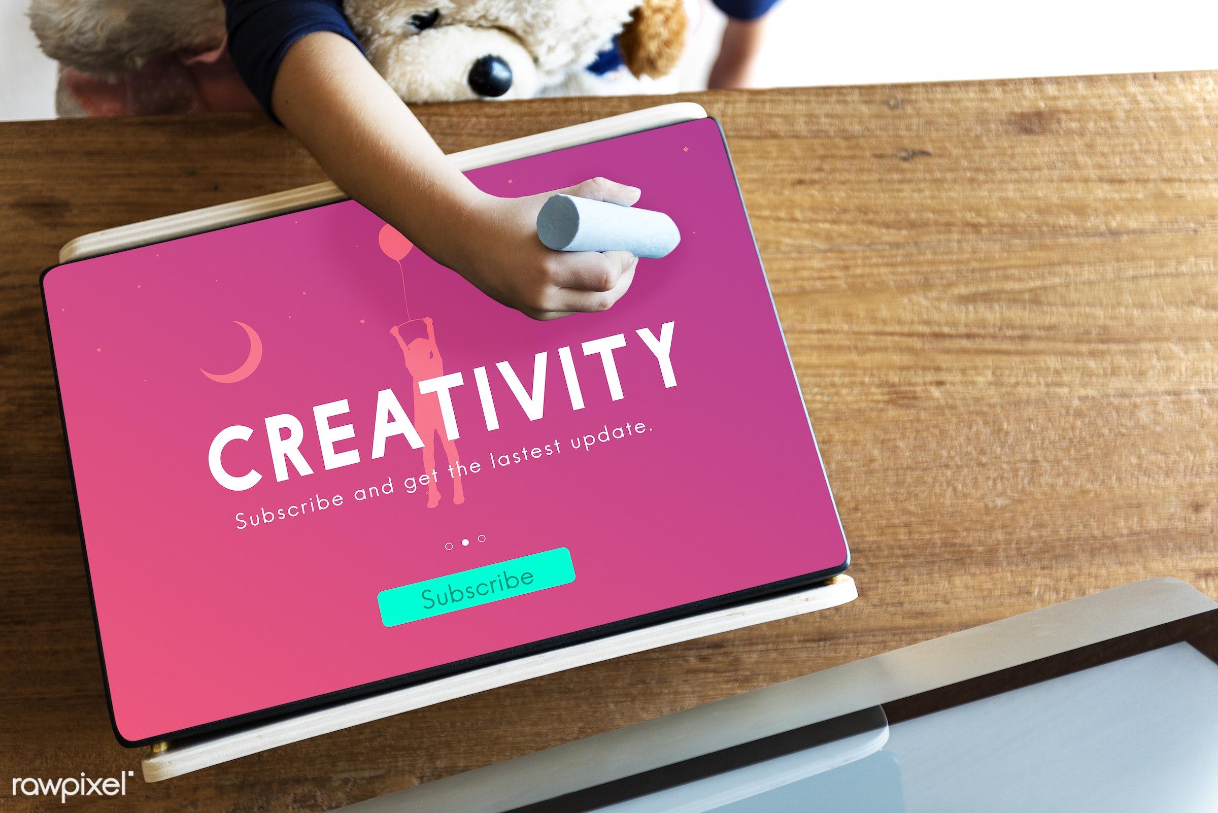 aerial view, be creative, brainstorm, childhood, computer, concept, conceptualize, create, creative, creativity, design,...